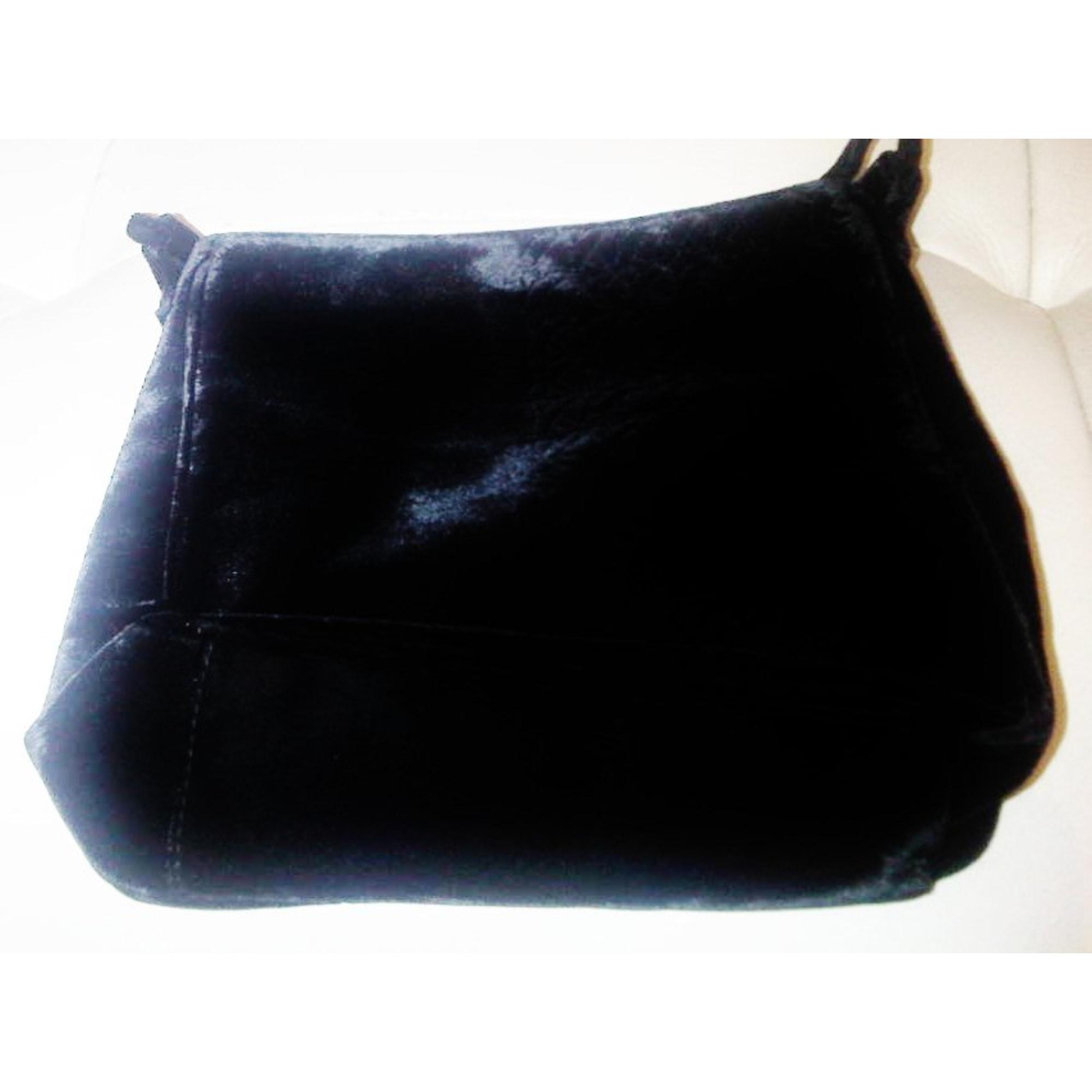 Sac pochette en tissu PALOMA PICASSO velours noir