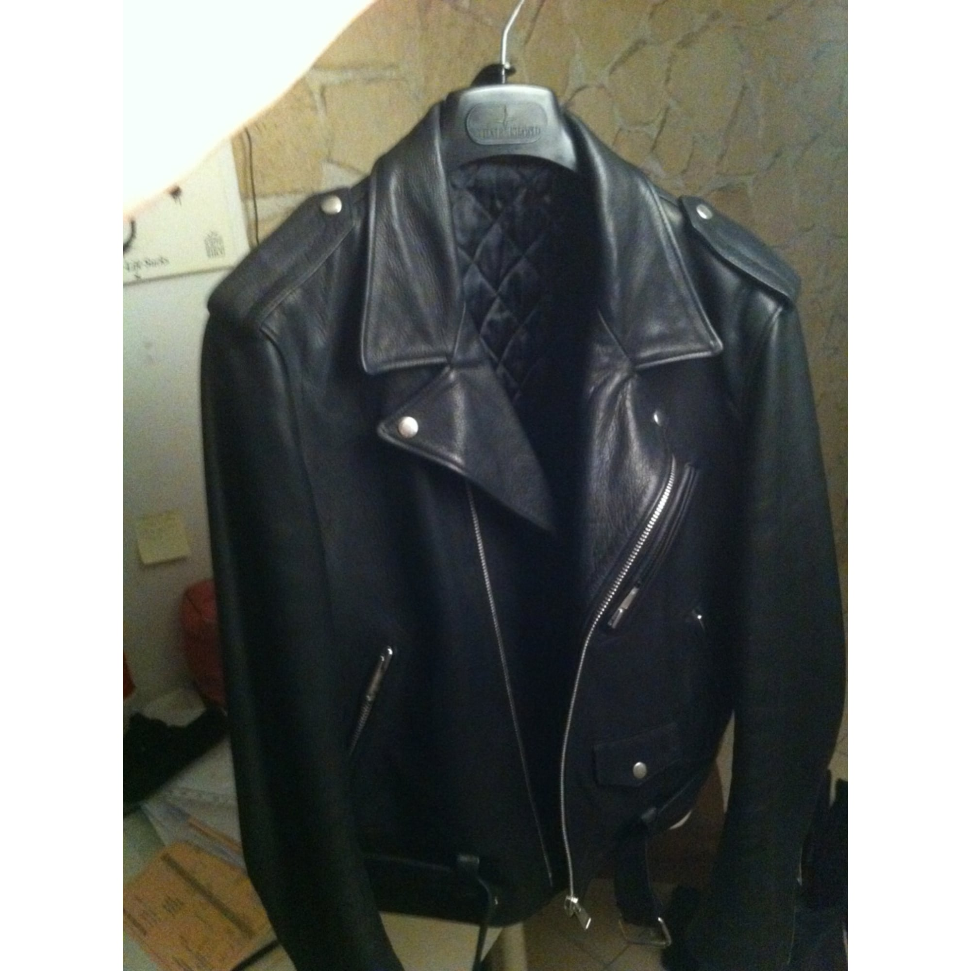 tout neuf 2c812 d3943 Leather Jacket SANDRO