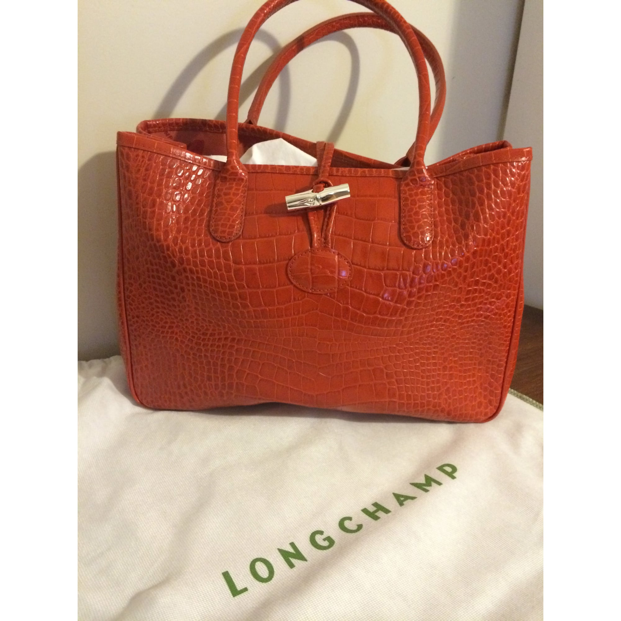 460e258867ff Sac à main en cuir LONGCHAMP orange vendu par Mathildeff - 2327119