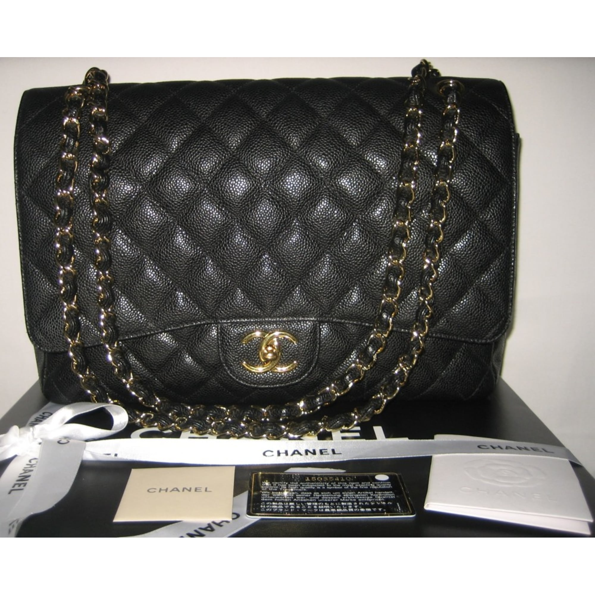 Sac à main en cuir CHANEL noir vendu par Marianna s closet - 2329157 c7657f94990