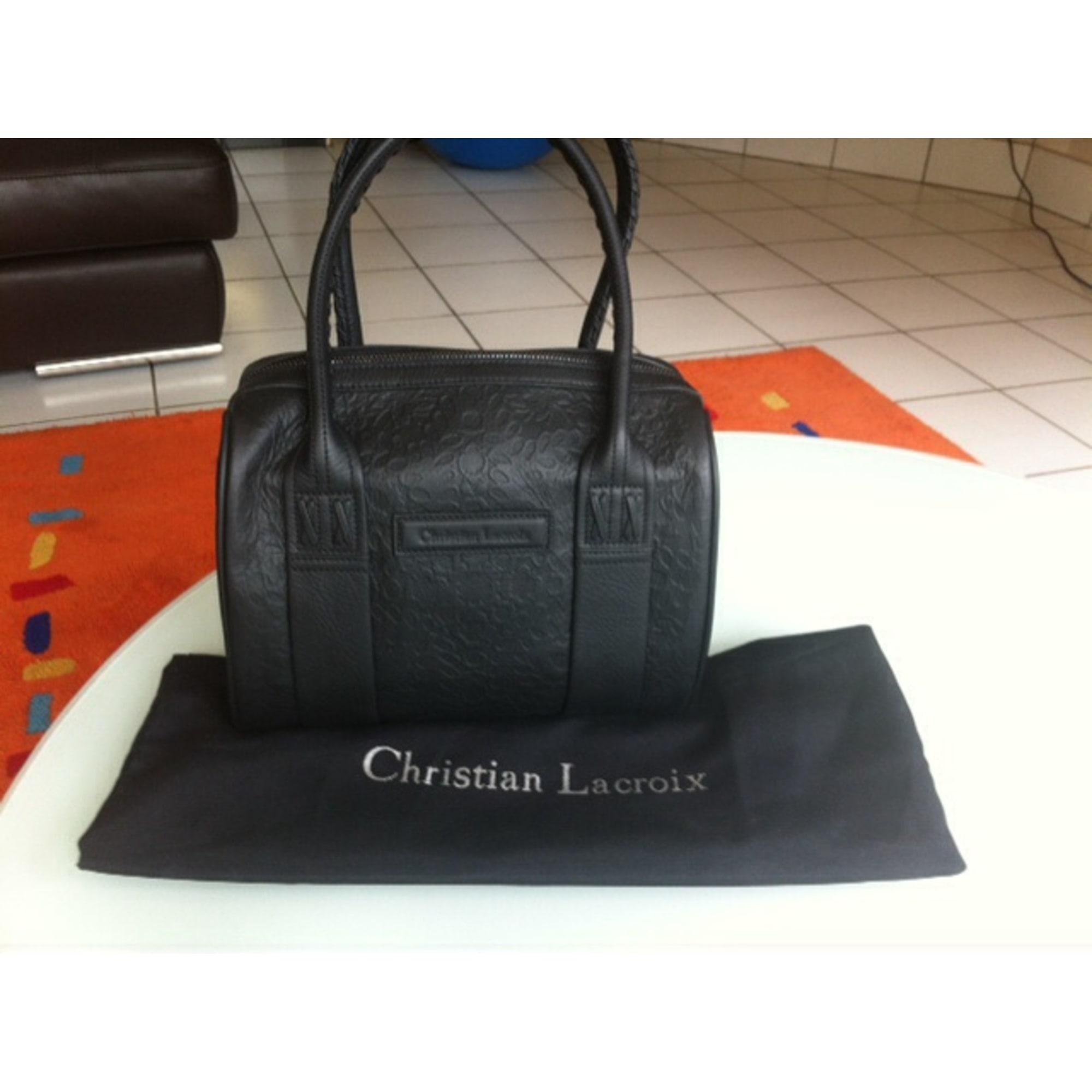 Cuir Vendu Sac Noir Shopname627420 À Christian En Lacroix Main Par VpLqSUzMG