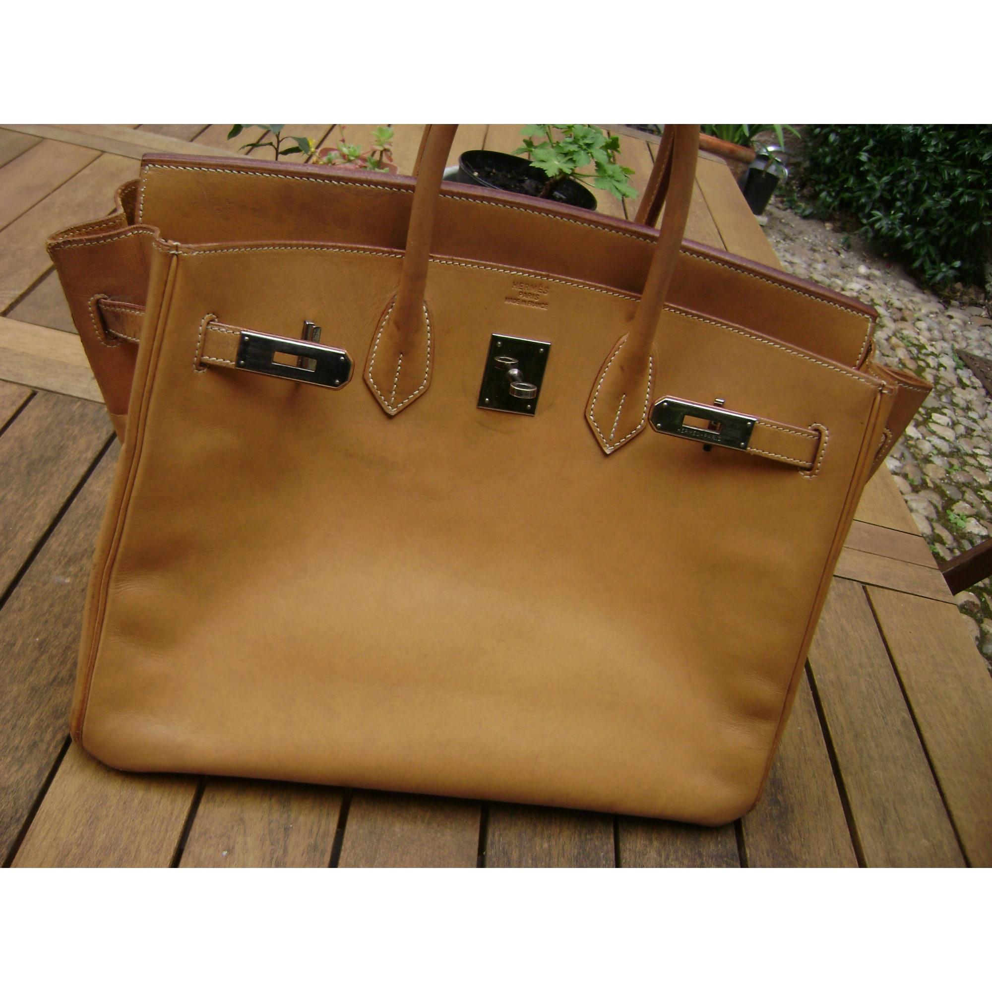 33586d6599 Sac à main en cuir HERMÈS jaune vendu par Lily, le vide dressing ...