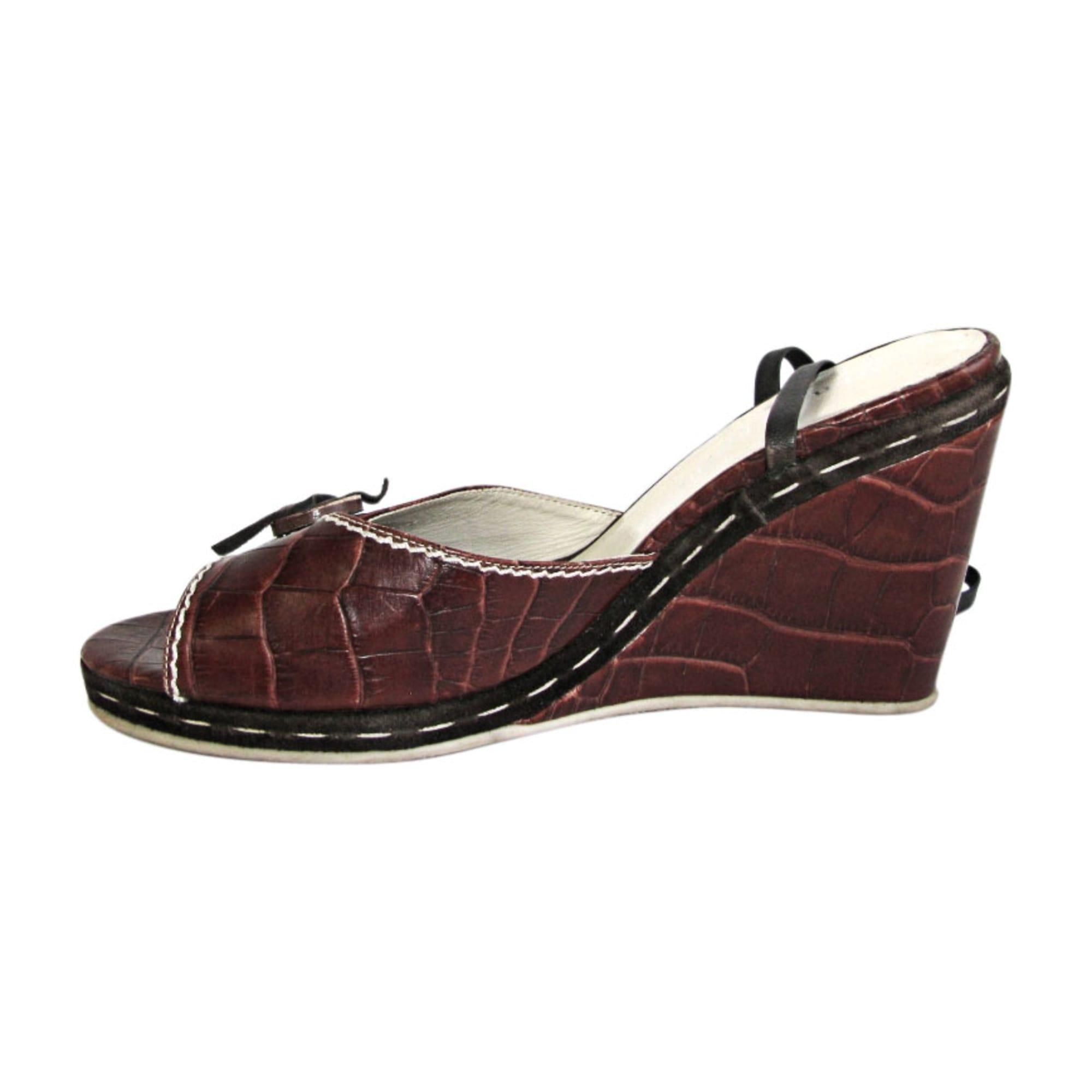 Sandales compensées STEPHANE KÉLIAN Marron