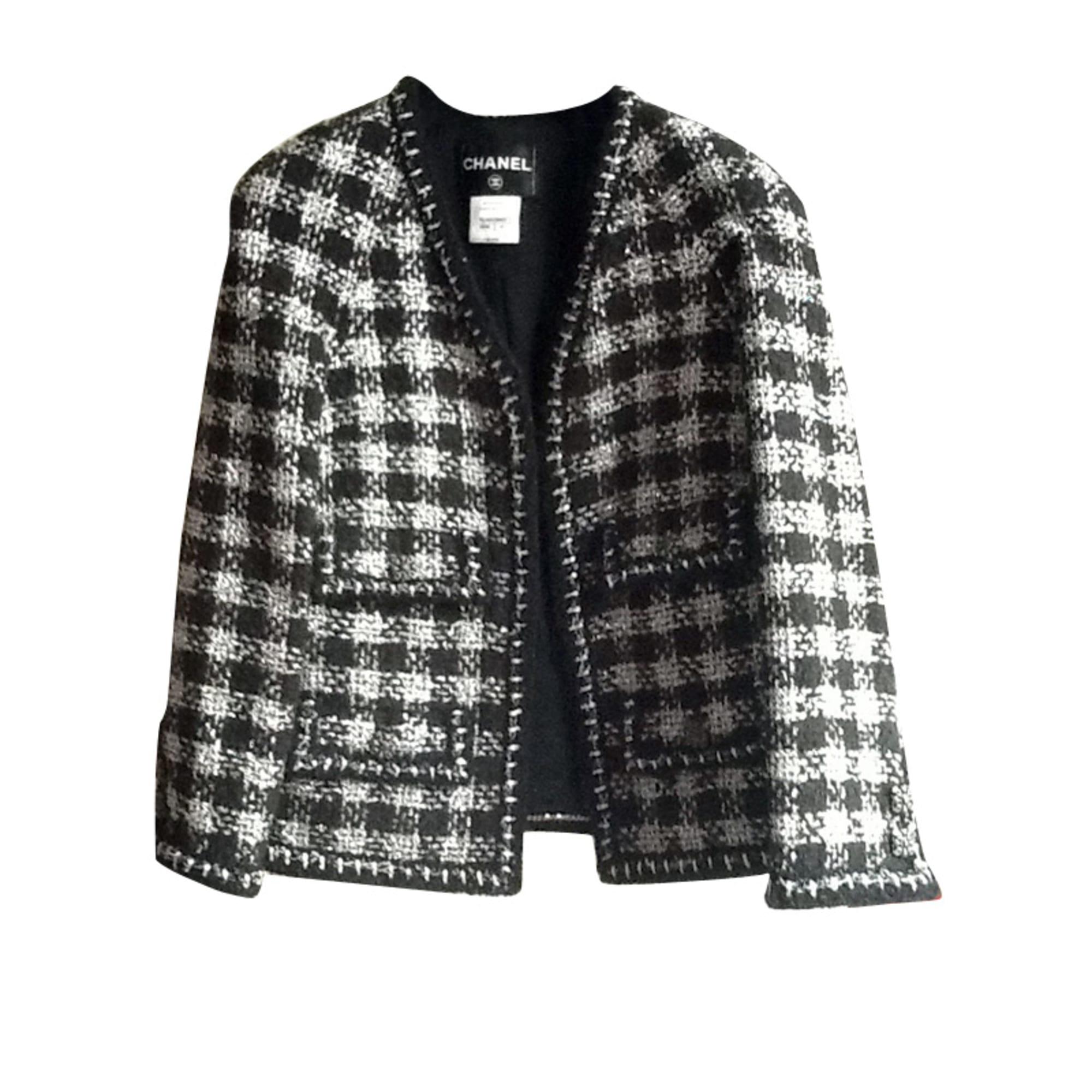 f2ede59f84ad Blazer, veste tailleur CHANEL 42 (L XL, T4) noir vendu par ...
