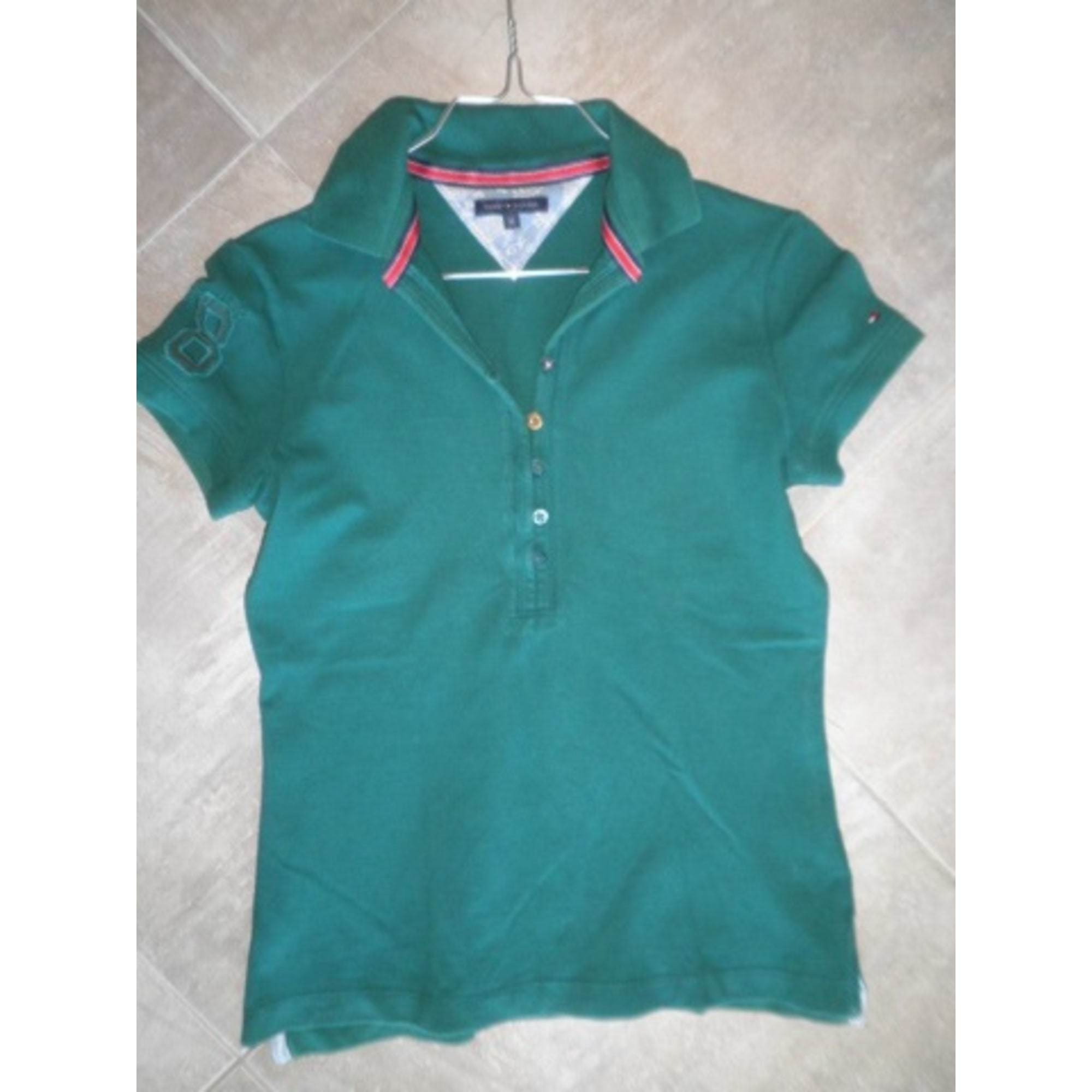 Tommy Hilfiger Turquoise Logo Polo Shirt M