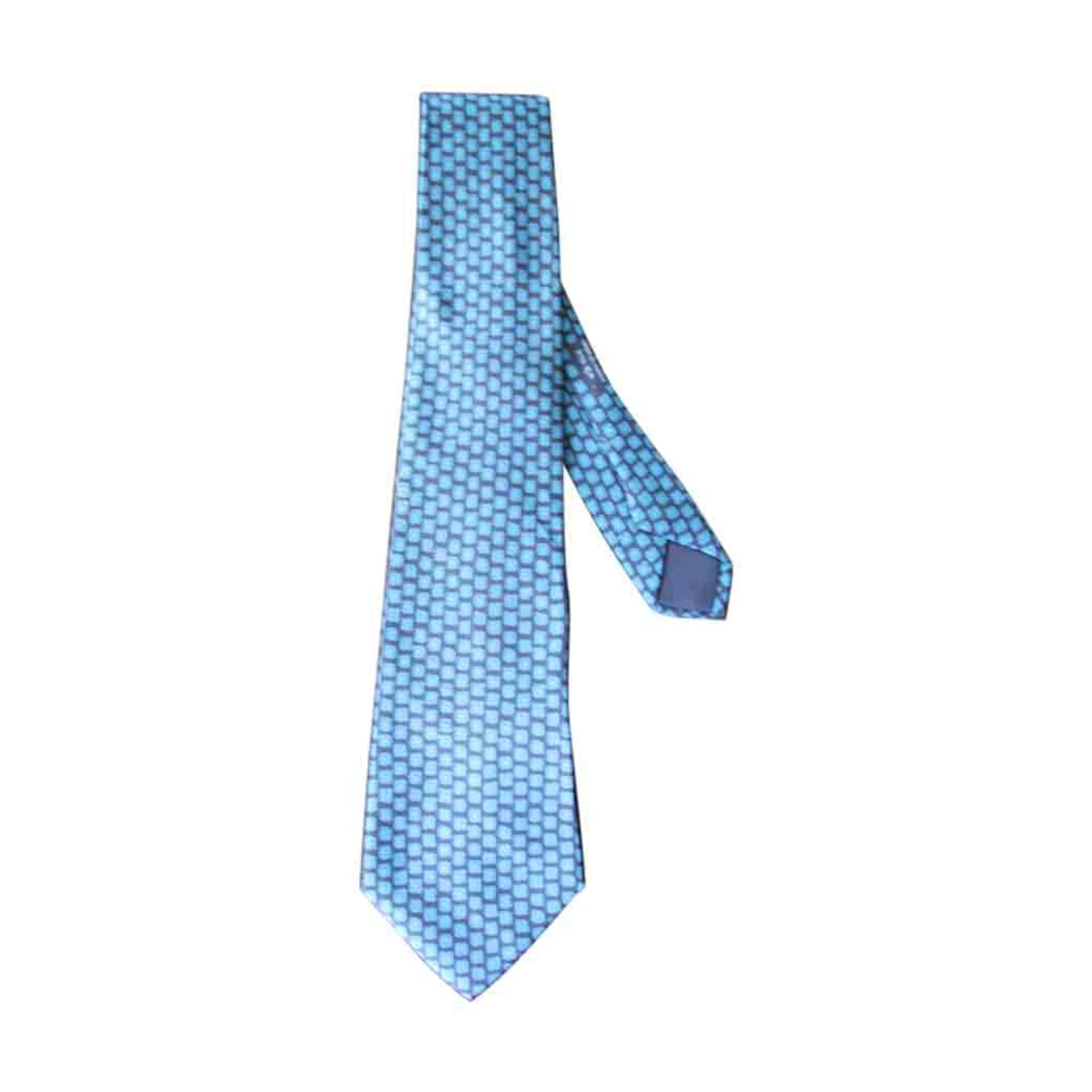dc20e3b71a9 Cravate HERMÈS bleu - 2409984