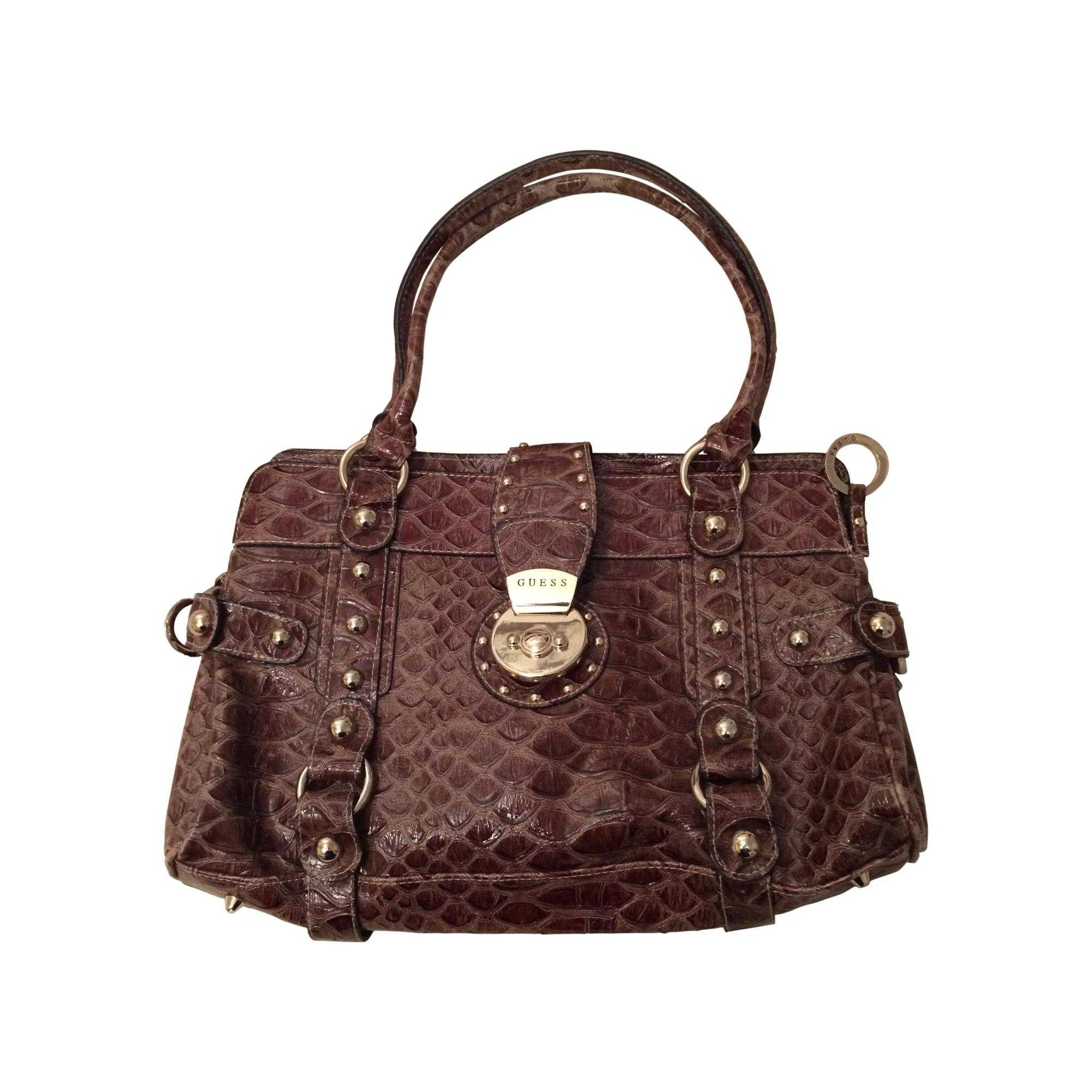 6831910c9f Sac à main en cuir GUESS marron vendu par Alice-10 - 2442930
