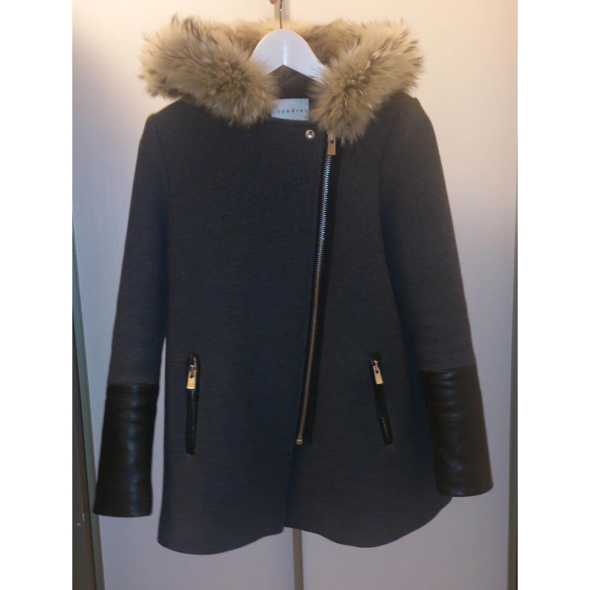 s Code Sandro Grau Mantel Dress Par Vendu T1 2461523 36 Mon Ea1wHqz