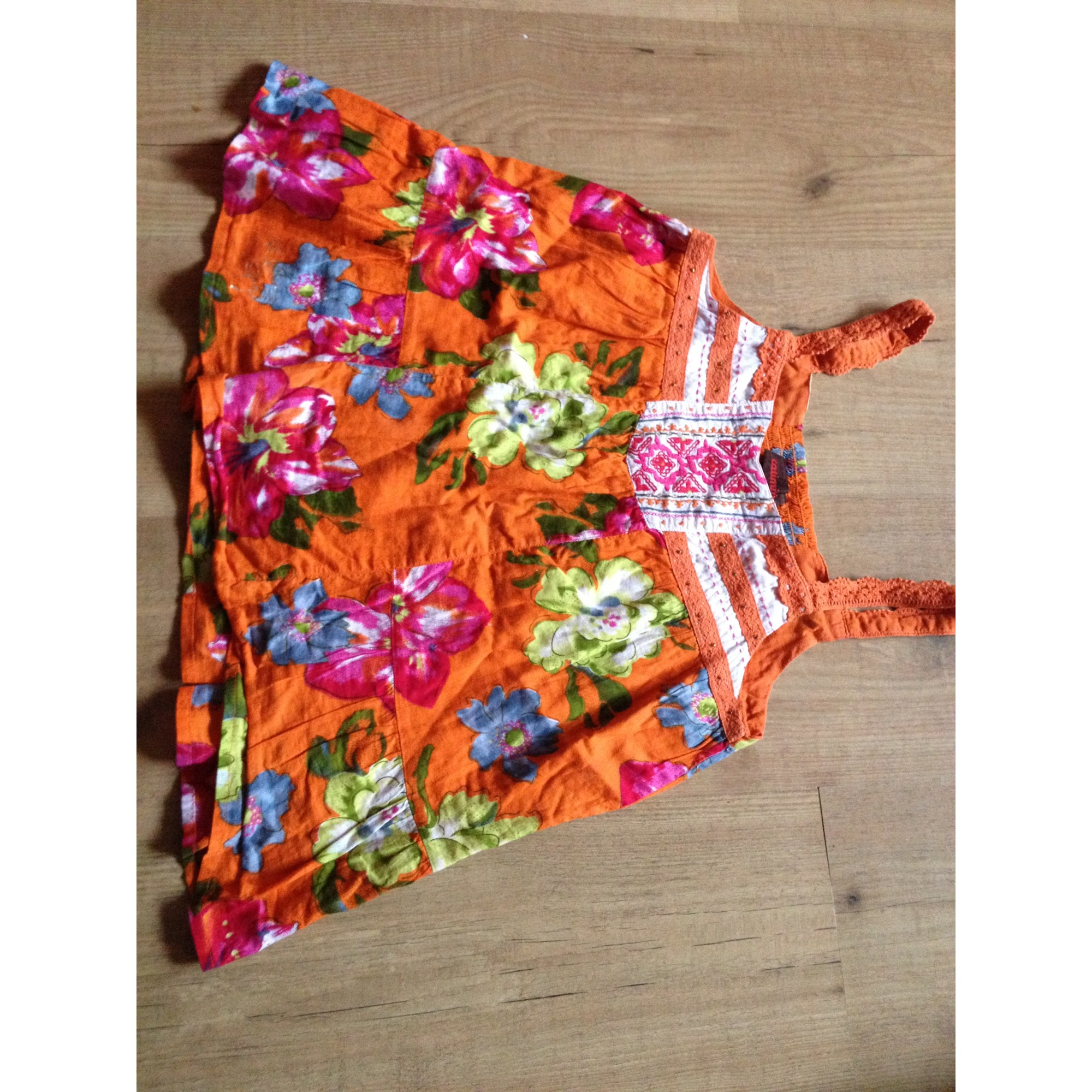 Top, Tee-shirt CATIMINI coton orange 11-12 ans