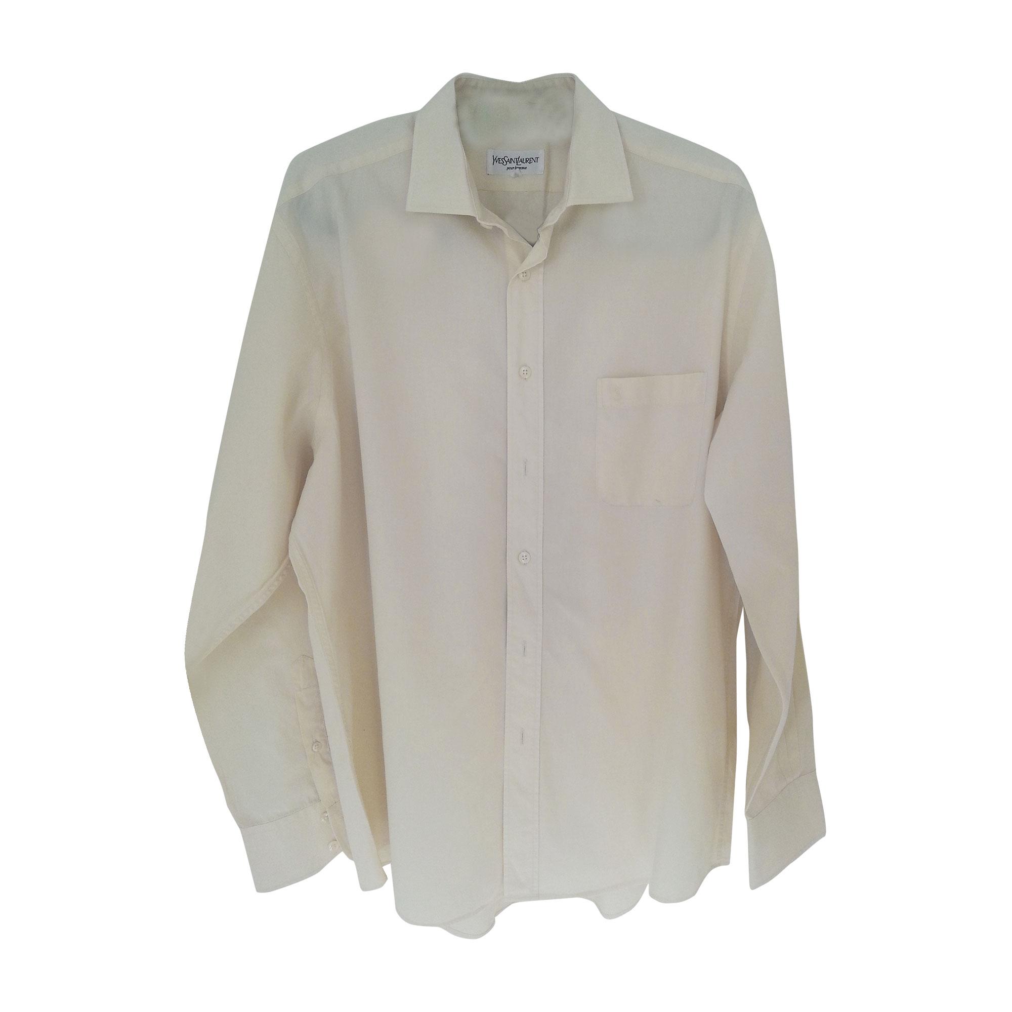 chemise yves saint laurent 41 42 l blanc 2490887. Black Bedroom Furniture Sets. Home Design Ideas