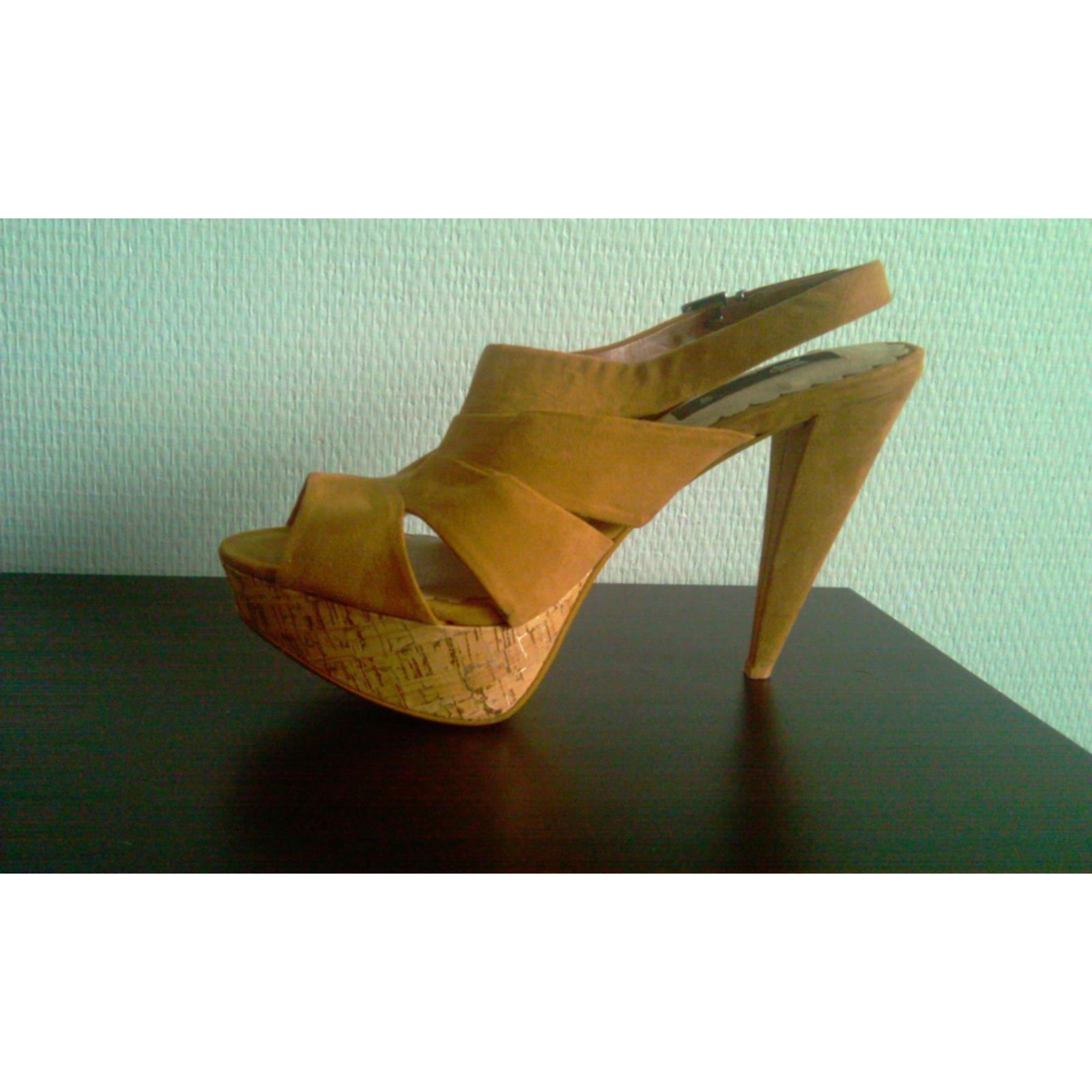 5cf65575c25 Heeled Sandals MANGO 40 beige - 2504193
