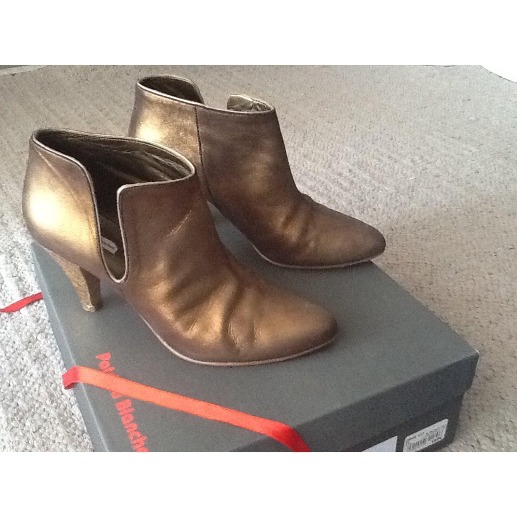 2523ea5f6e7e5 Bottines amp  low boots à talons PATRICIA BLANCHET cuir noir 39 ...