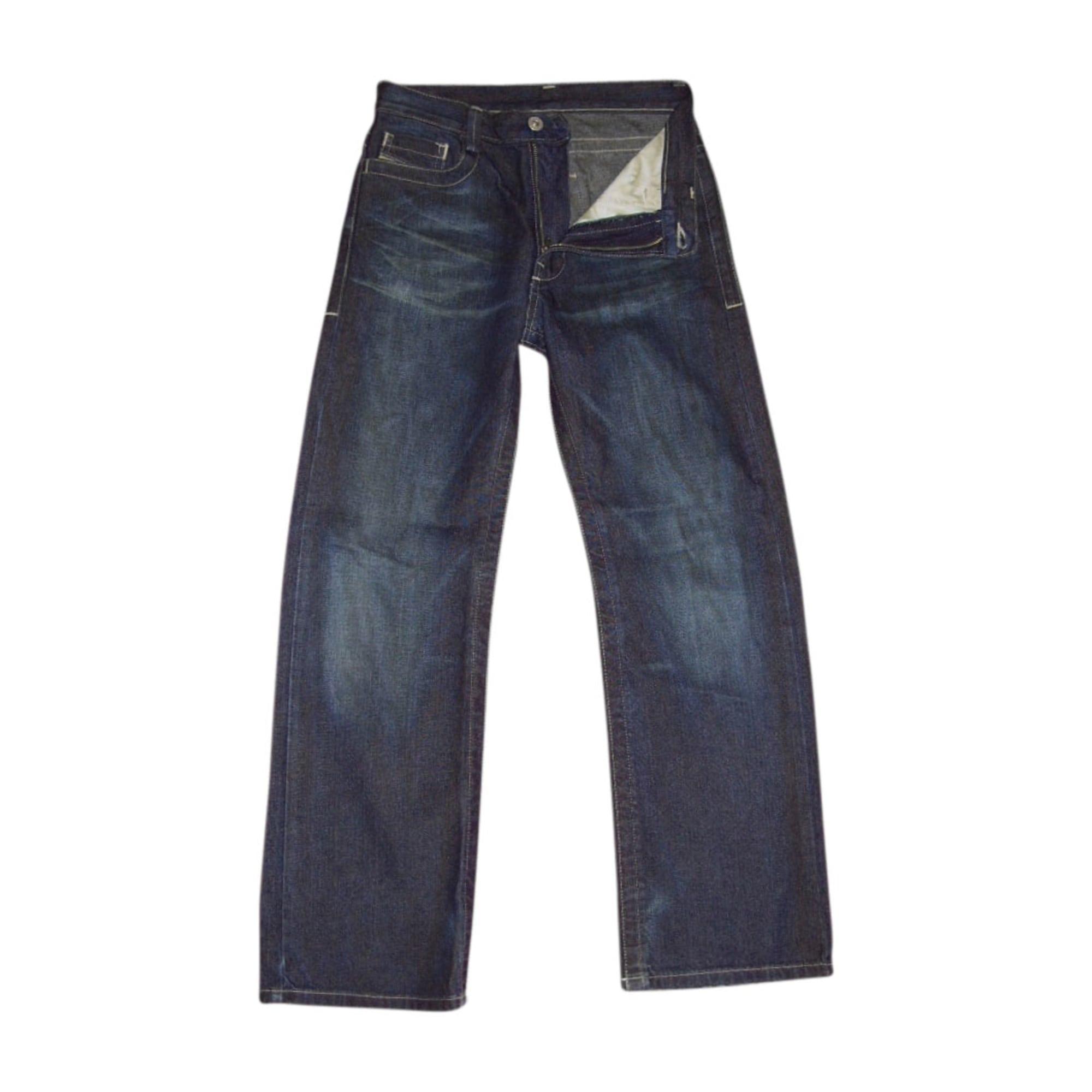 Jeans large DIESEL Bleu, bleu marine, bleu turquoise