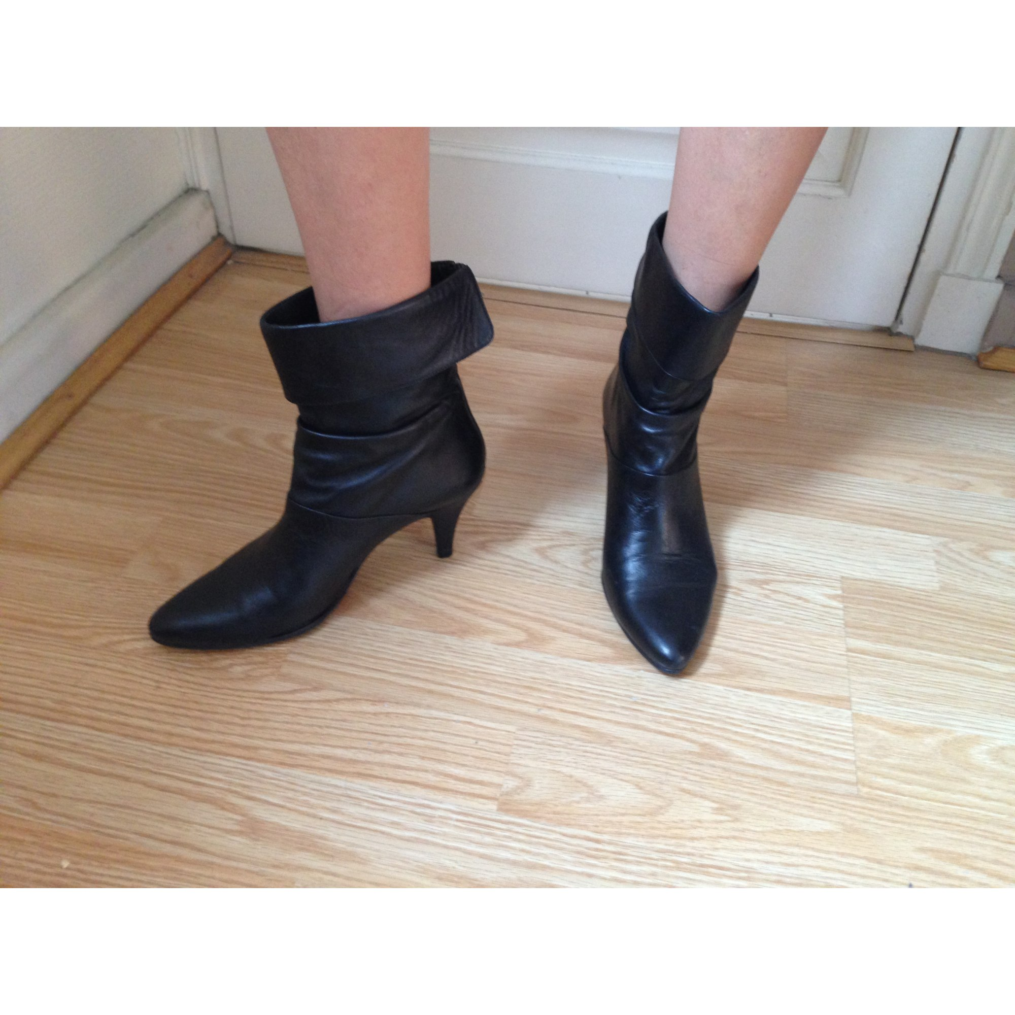 Bottines & low boots à talons JAIME MASCARO cuir noir 37