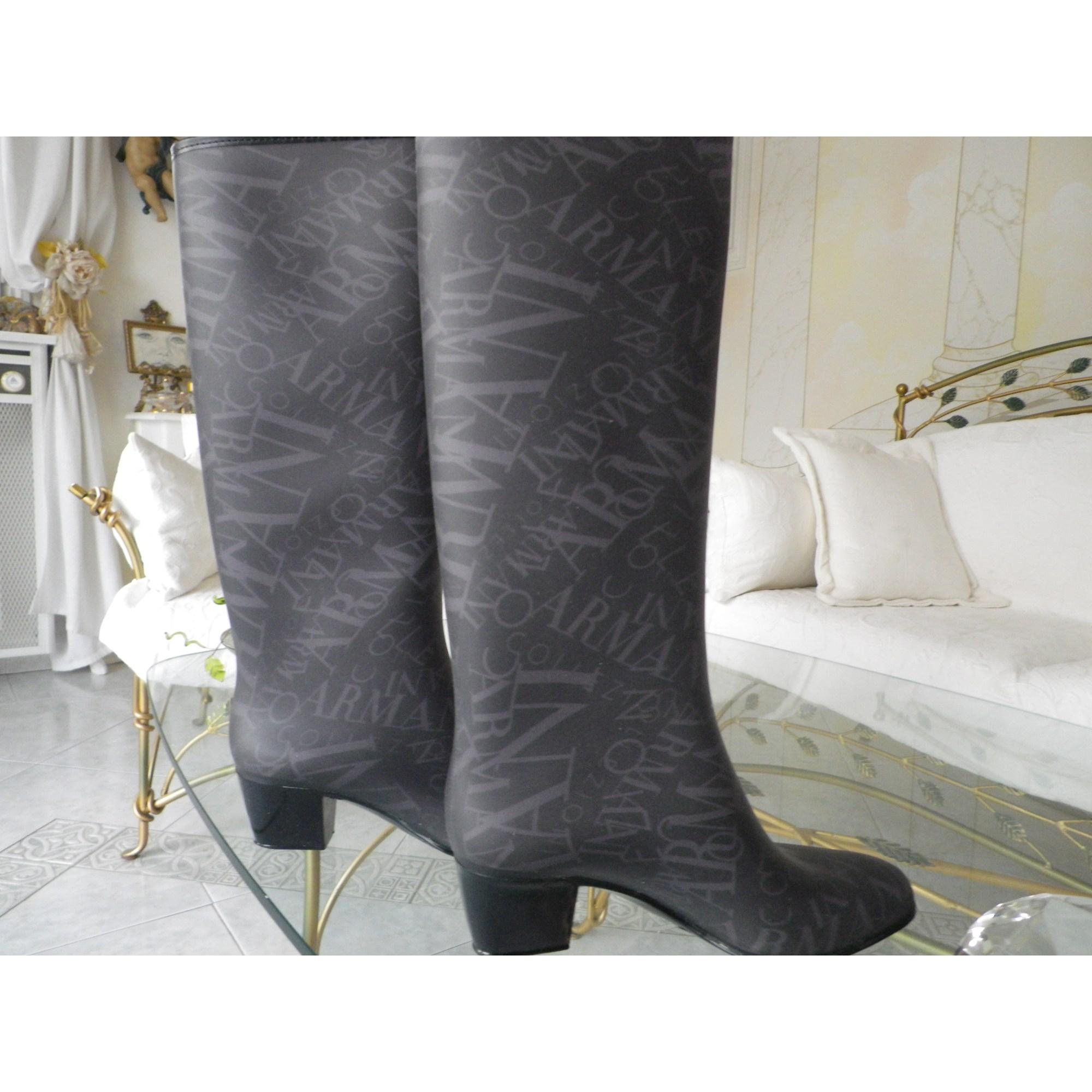 Bottes de pluie ARMANI 38 gris vendu par Pierrette 8145281 - 2523725 5c87b43c4982