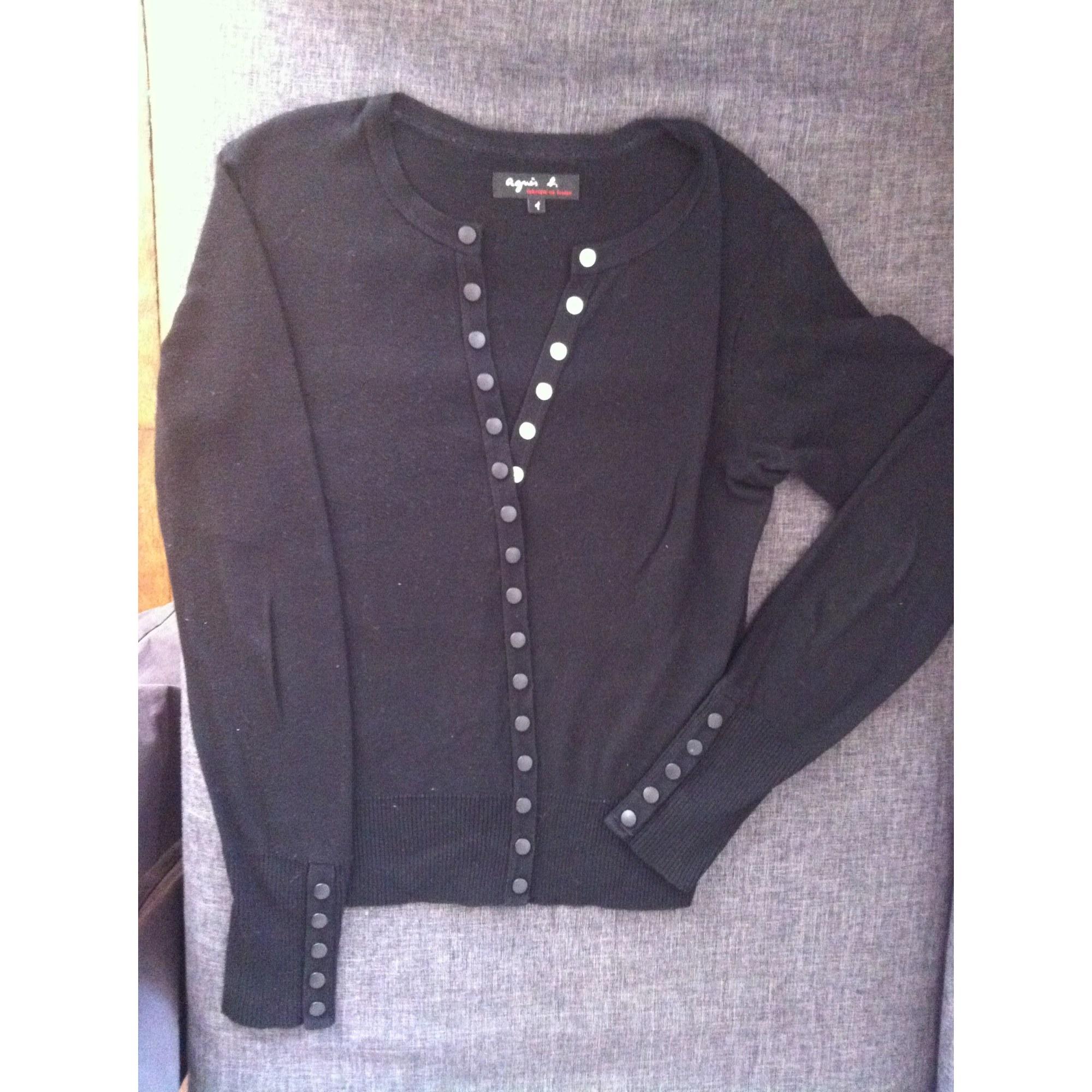 Vendu Noir Par Cardigan Gilet 165280883 Agnès Sarah s B T1 36 1YOFS