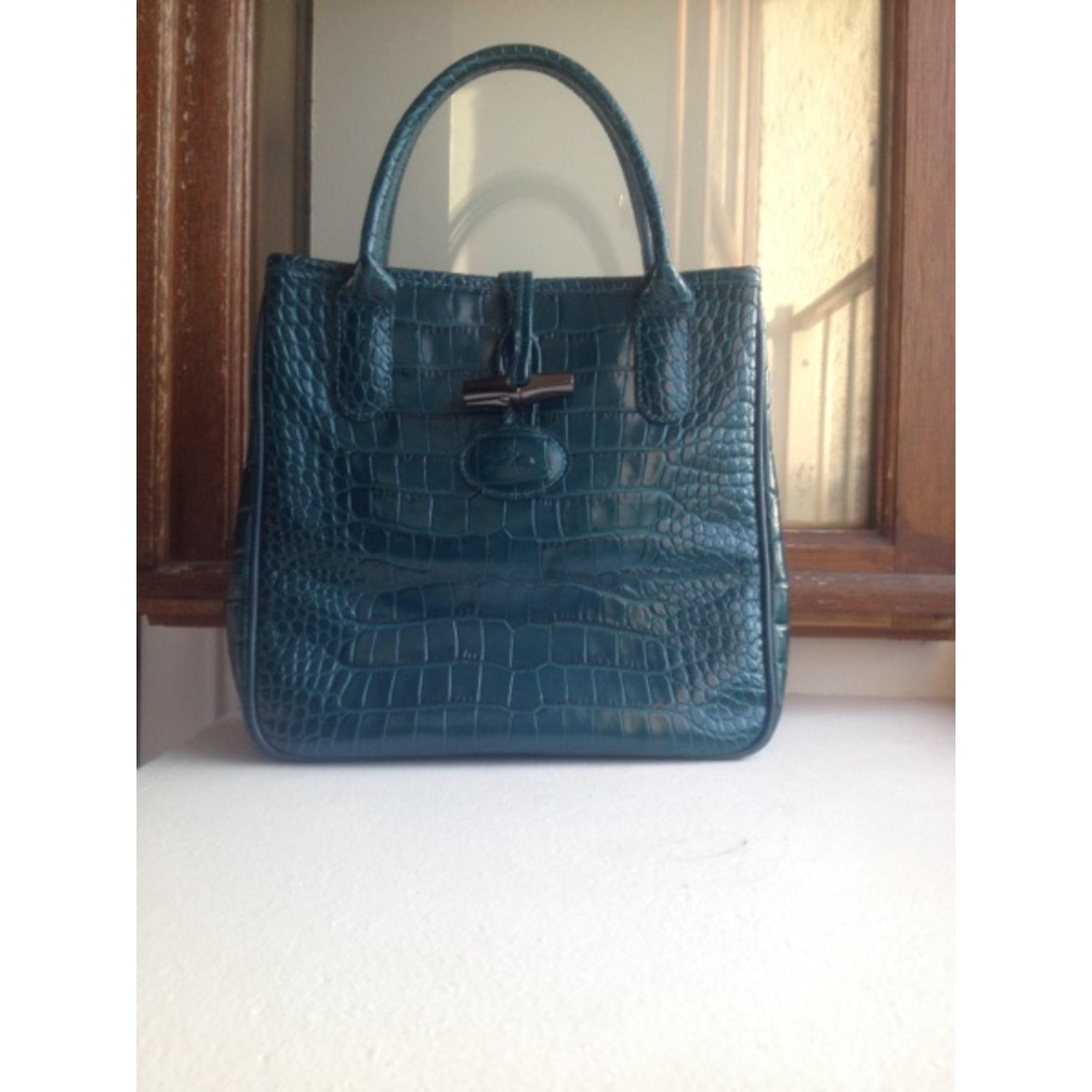 sac longchamp cuir bleu minuit