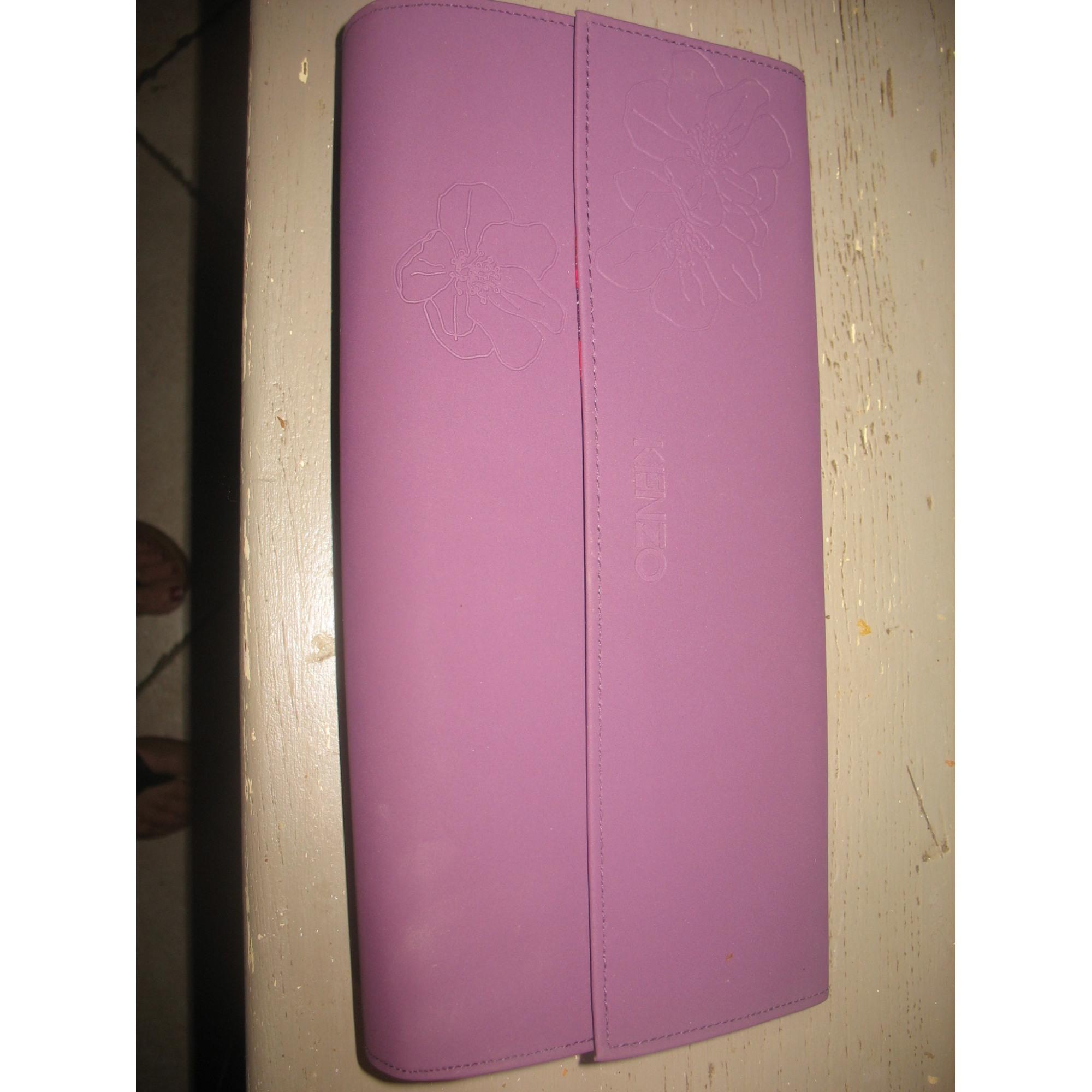 Sac pochette en tissu KENZO synthétique violet