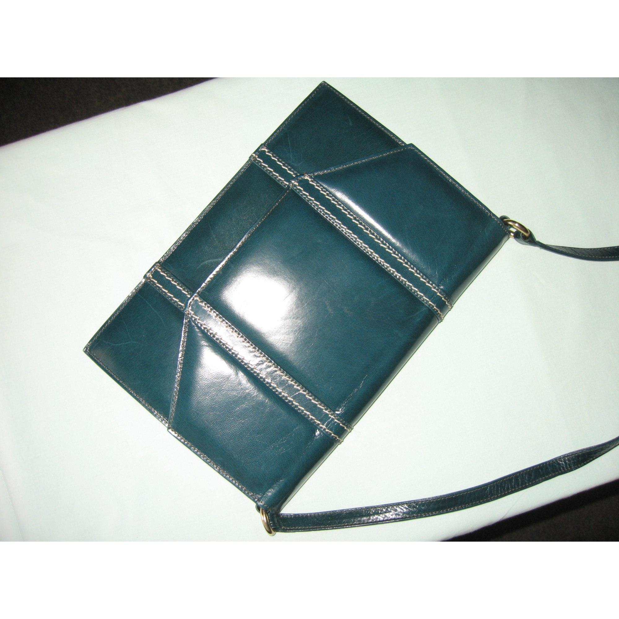 Sac pochette en cuir CHARLES JOURDAN cuir bleu