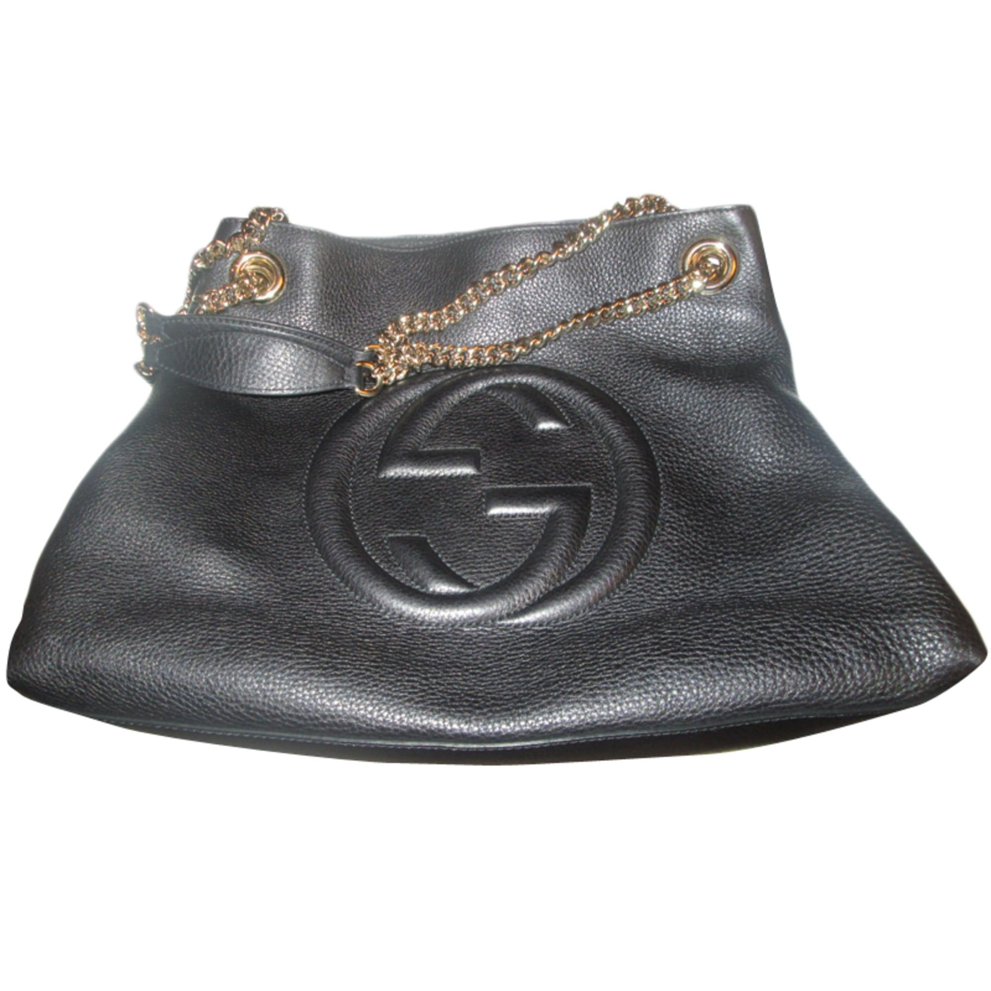 576d6eafb19e Sac à main en cuir GUCCI noir vendu par Mme omalley39434 - 2726911