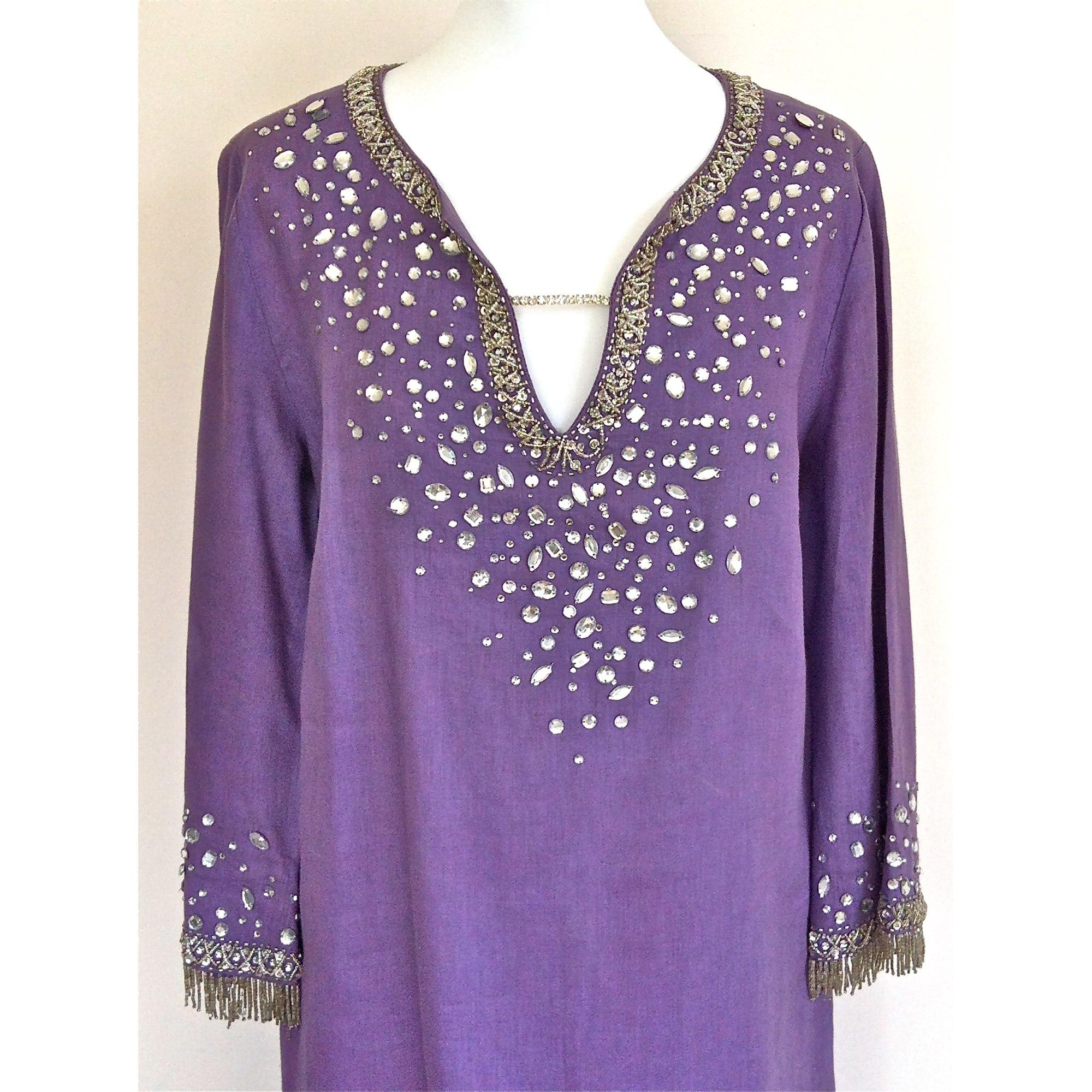 72dec197e0 Kaftan Dress LUISA SPAGNOLI 38 (M, T2) purple - 2729164
