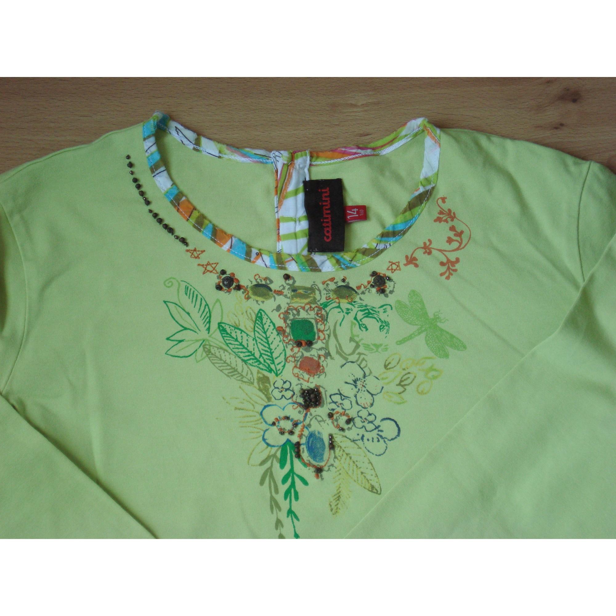 Top, Tee-shirt CATIMINI Vert