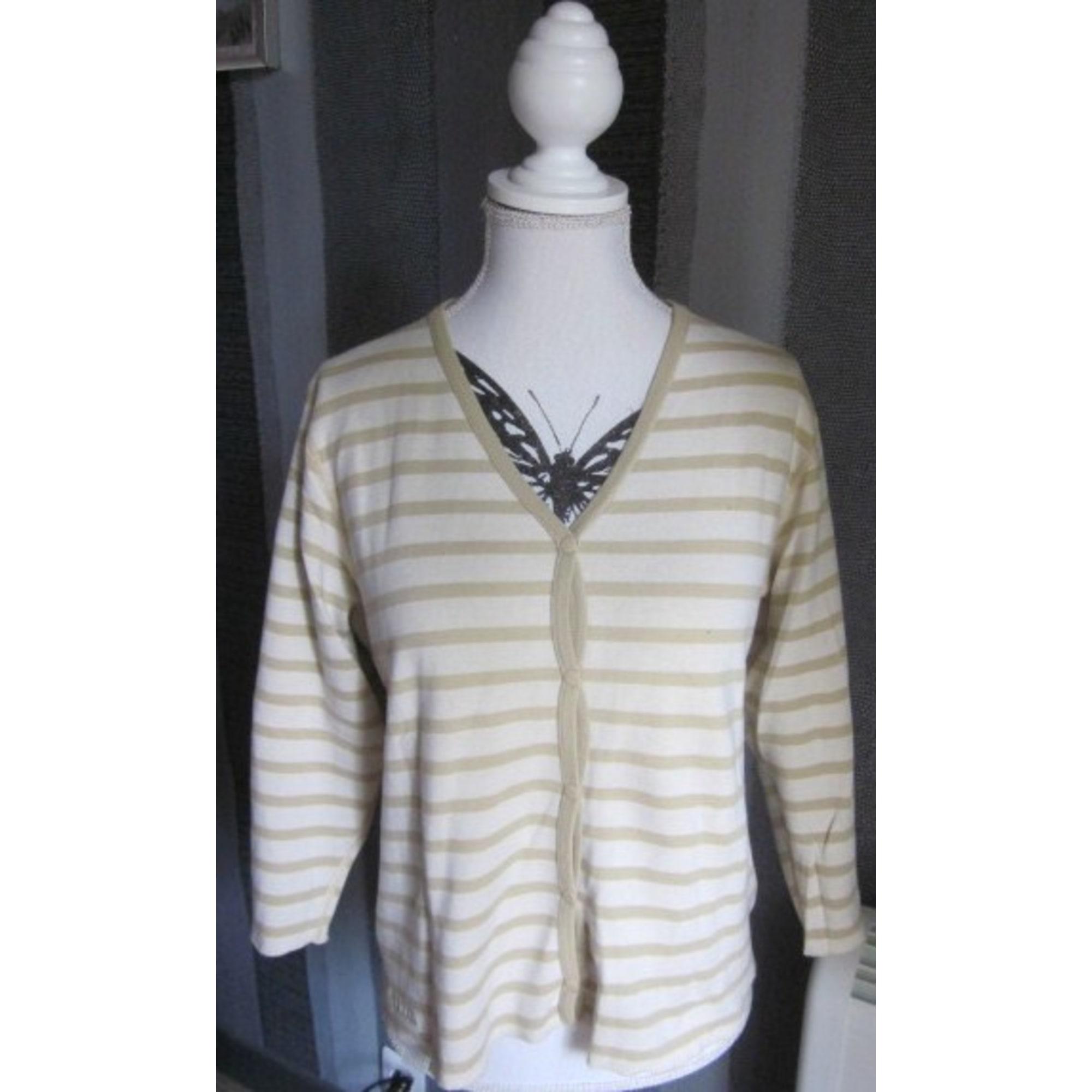 T4 beige cardigan LXL LE PETIT 42 2852592 BAIGNEUR Gilet v40Ywnn