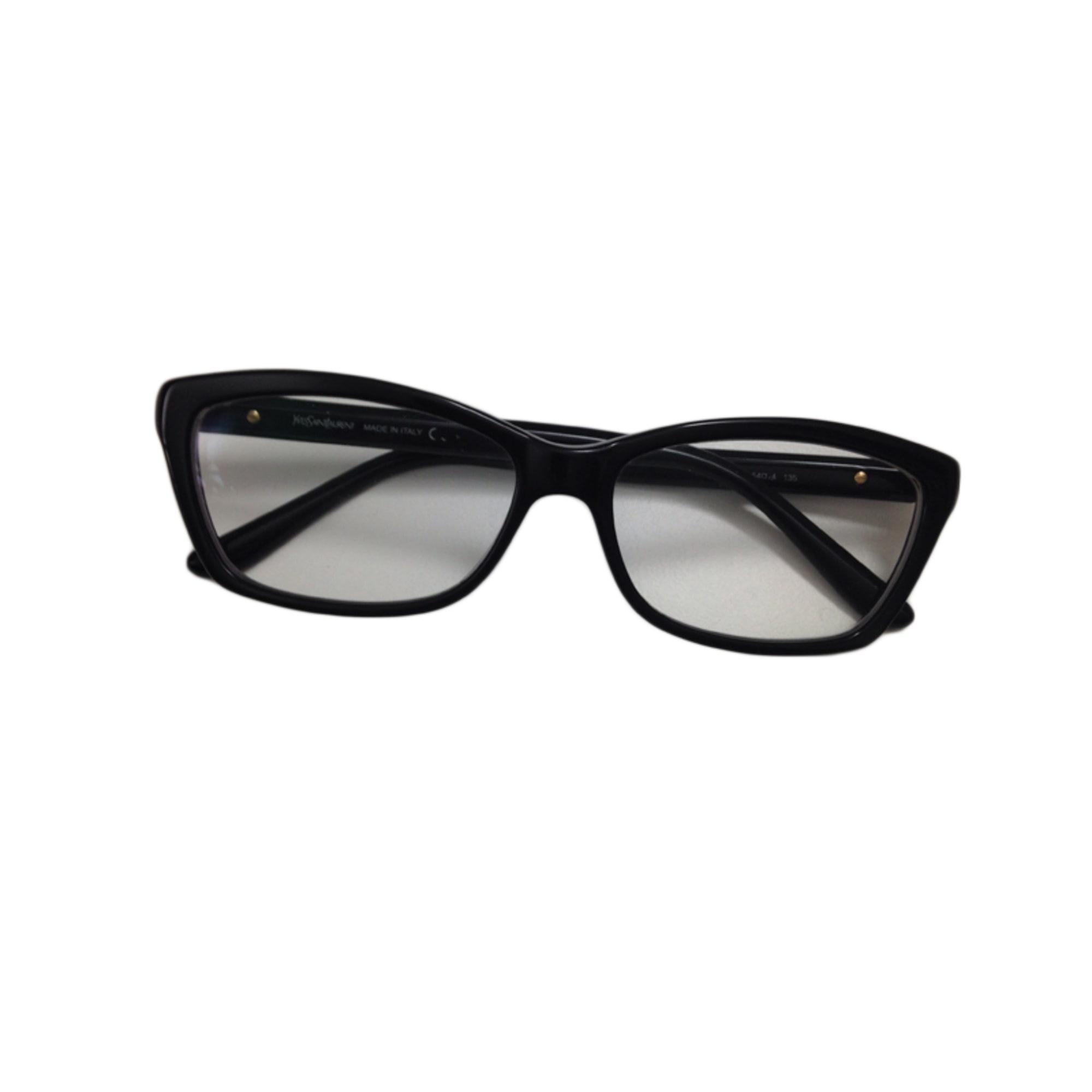 monture de lunettes yves saint laurent noir 2872500. Black Bedroom Furniture Sets. Home Design Ideas