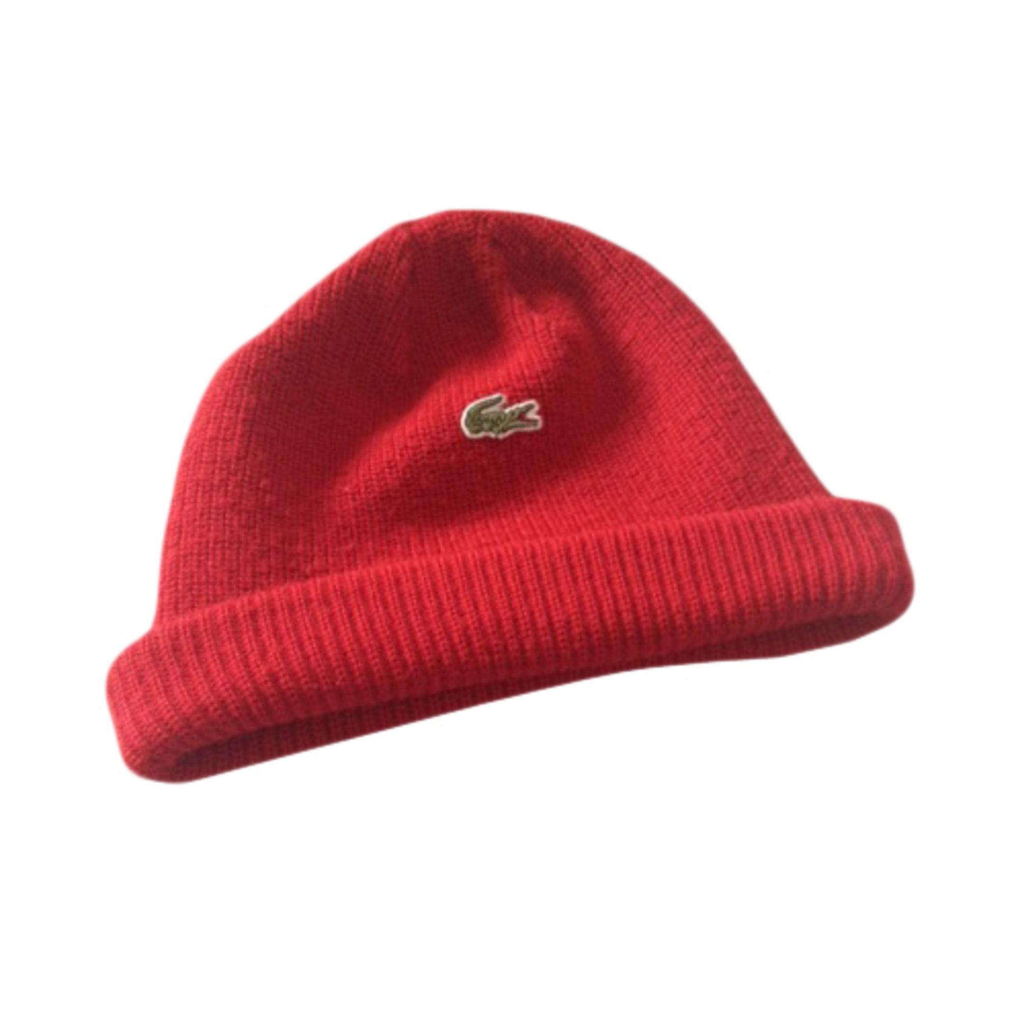 Bonnet LACOSTE Taille unique rouge vendu par Perrine68461634 - 2876505 465c69079b5