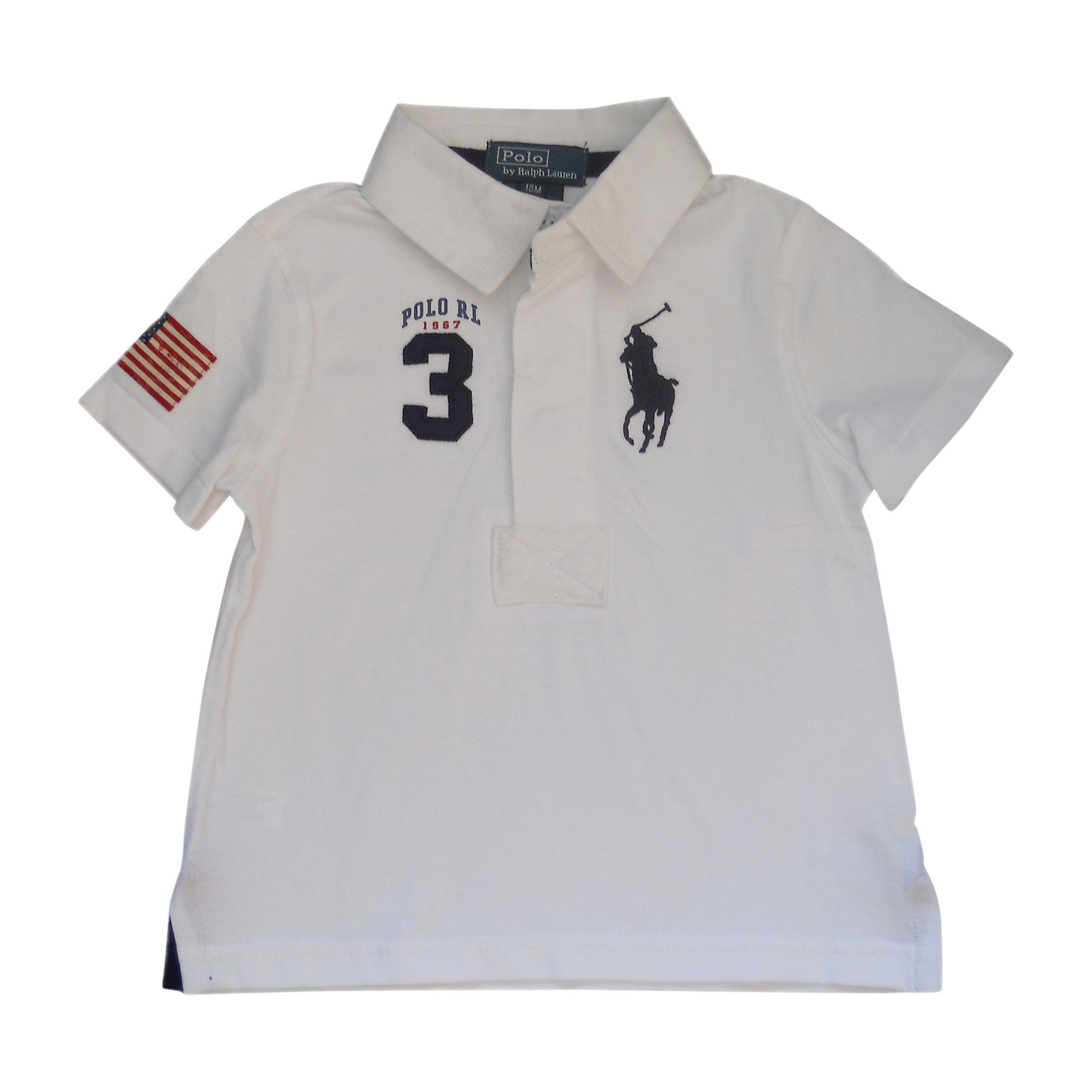 3d1b0333a0dd5e Polo RALPH LAUREN Blanc, blanc cassé, écru