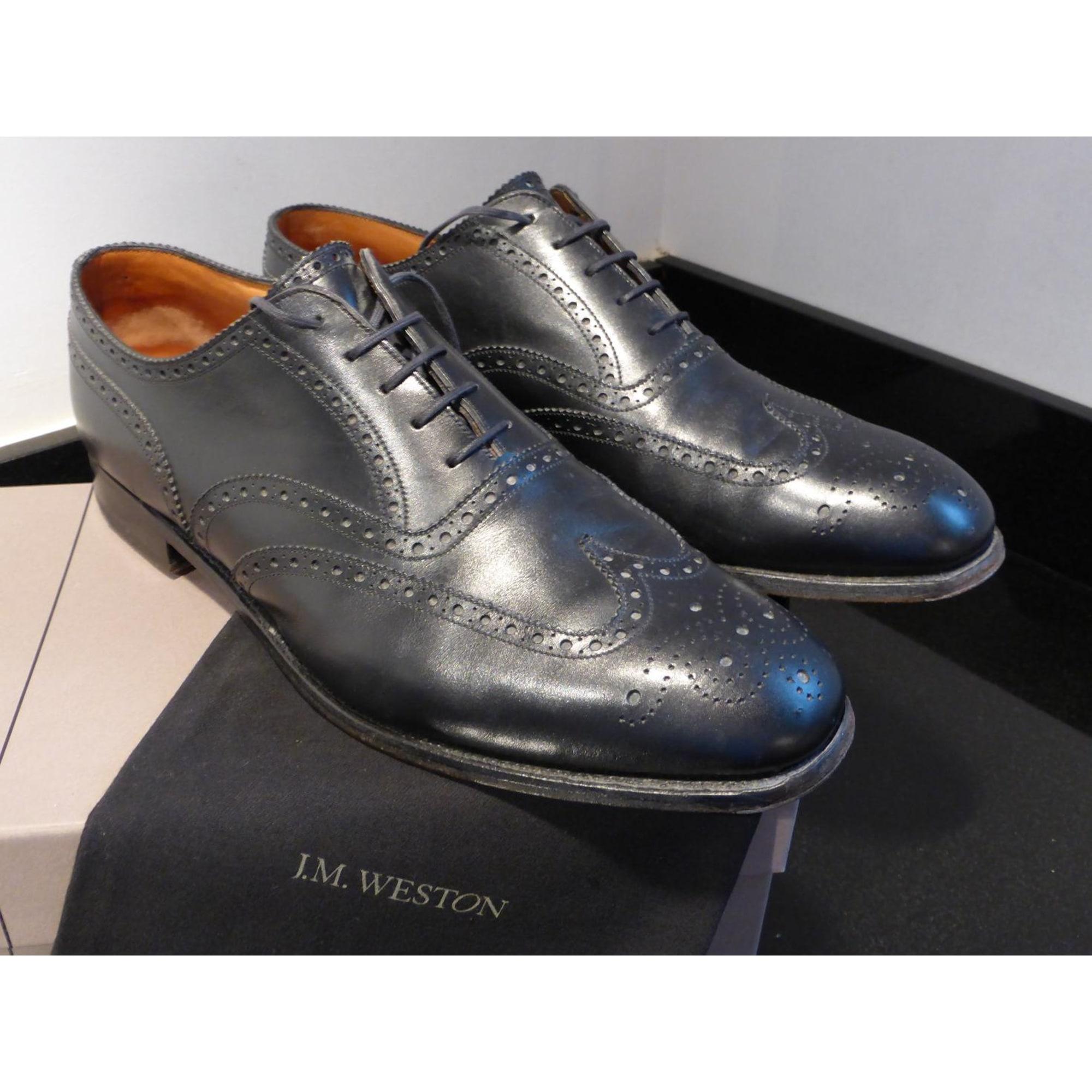 Chaussures à lacets J.M. WESTON 46 noir vendu par Jlt - 2904350 4000e44755c