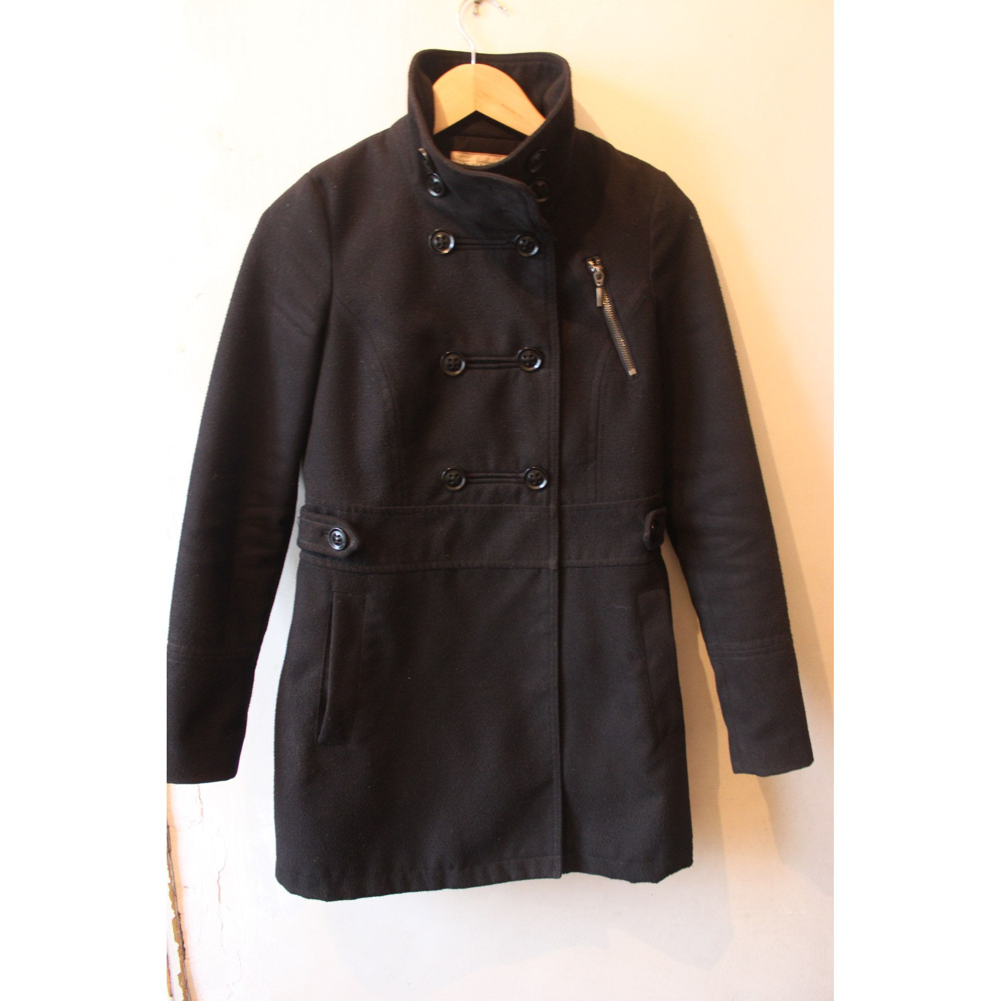 Manteau gris pull and bear