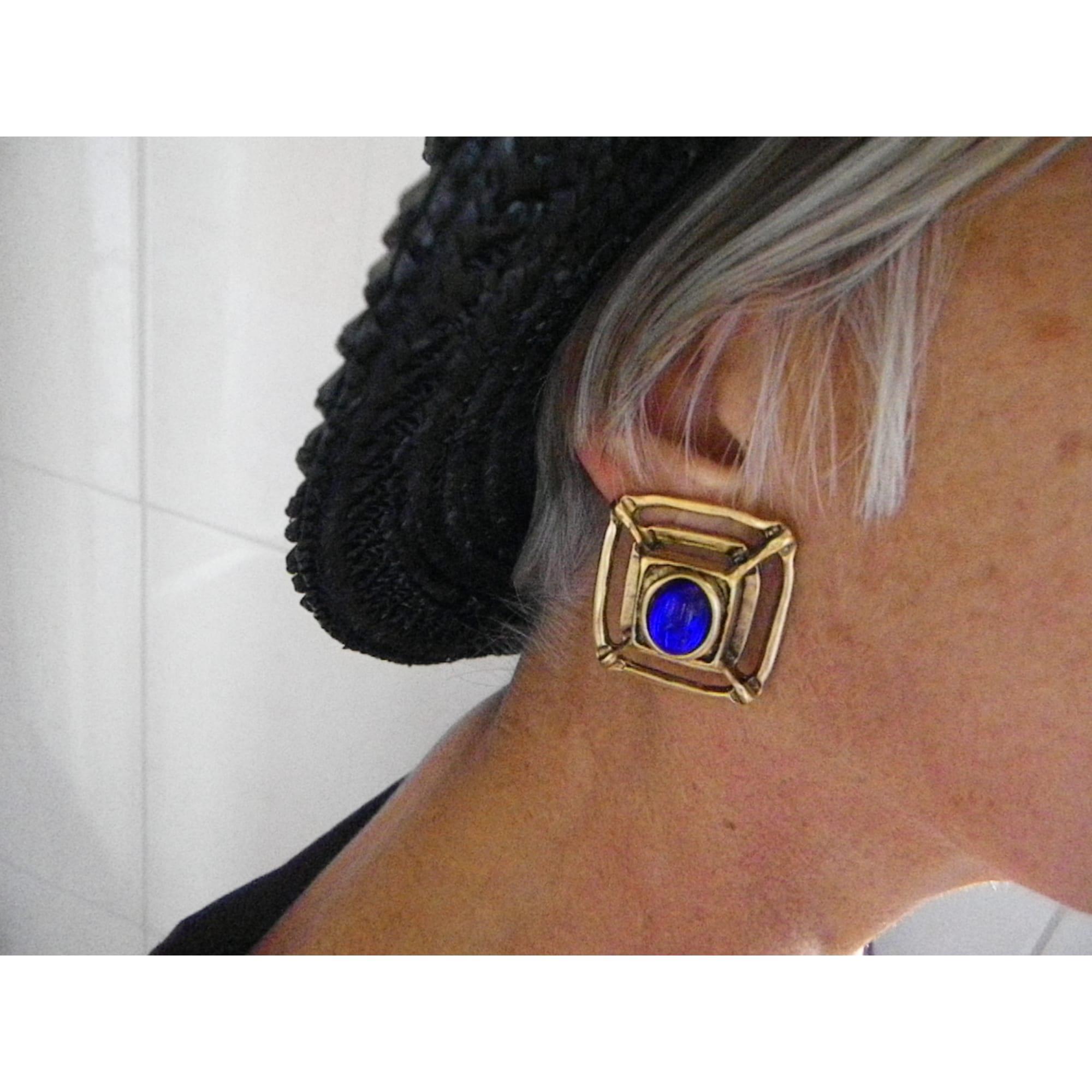Boucles d'oreille ENTRE-GUILLEMETS métal doré