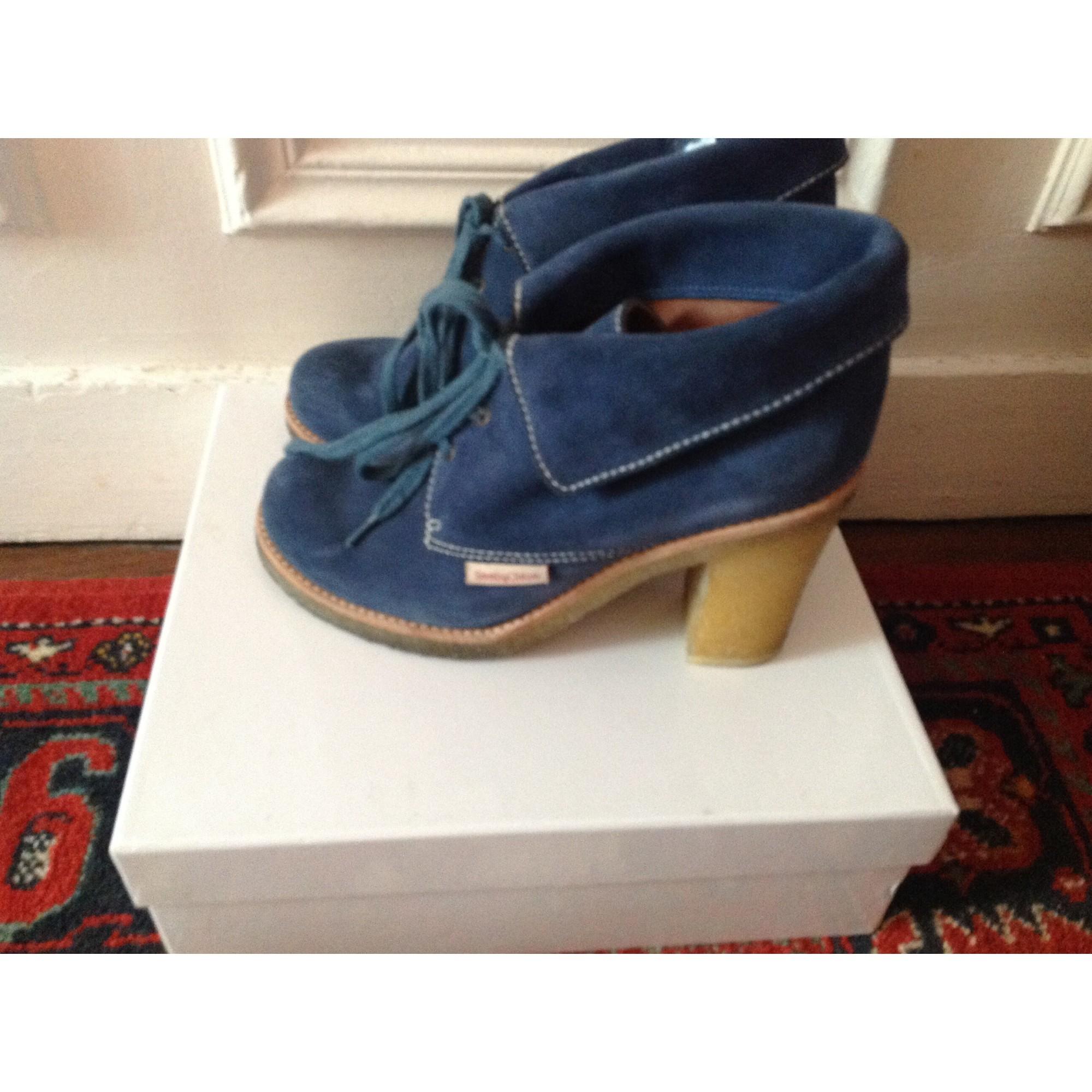 Bottines & low boots à talons SEE BY CHLOE Bleu, bleu marine, bleu turquoise