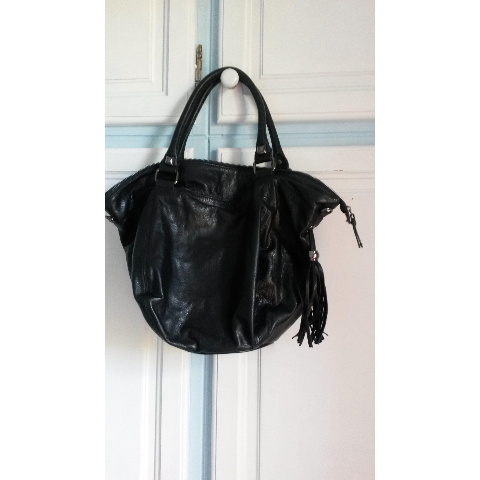 828813a75752 Sac à main en cuir CAROLL noir vendu par Taratata 8 - 2967990