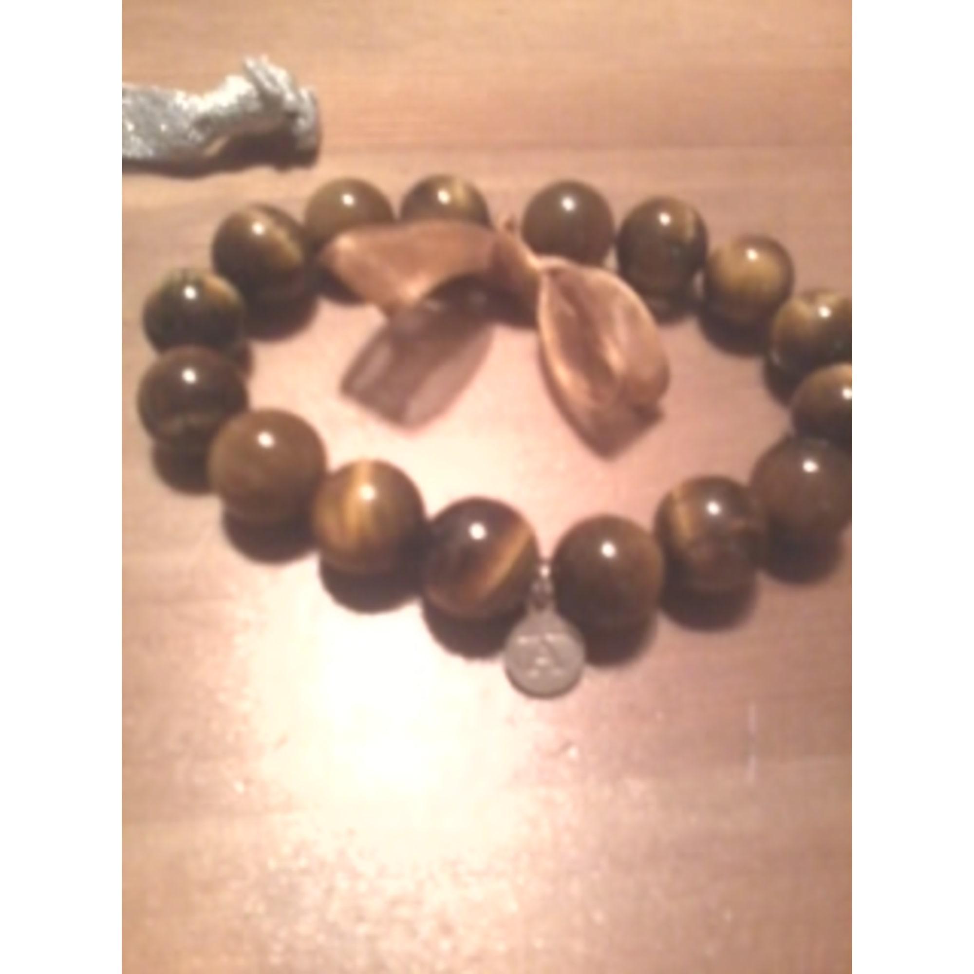 Bracelet ALEXANDRA PLATA pierres marron