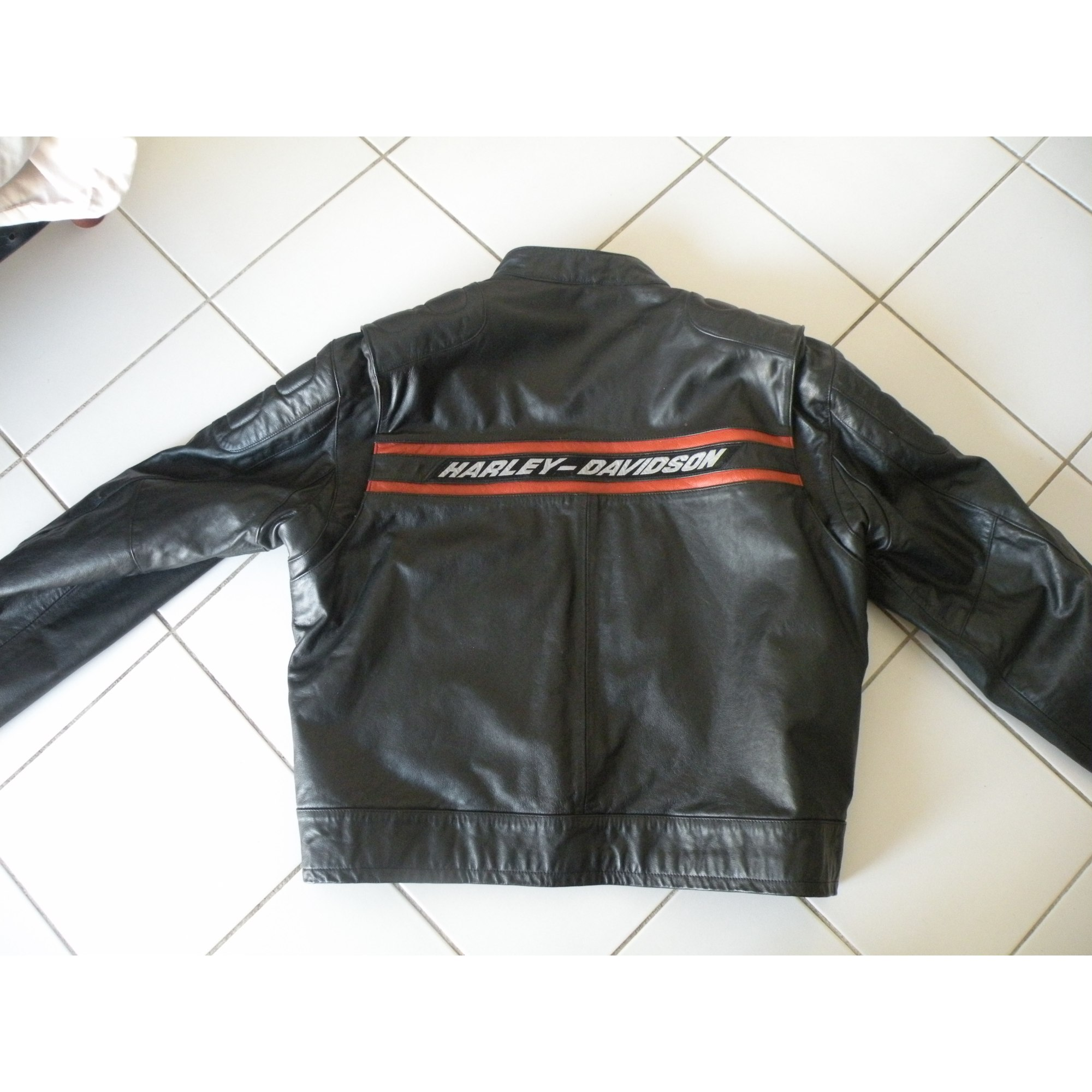 Noir Davidson Blouson 300740 xxxl 64 Cuir Harley En vwtFY