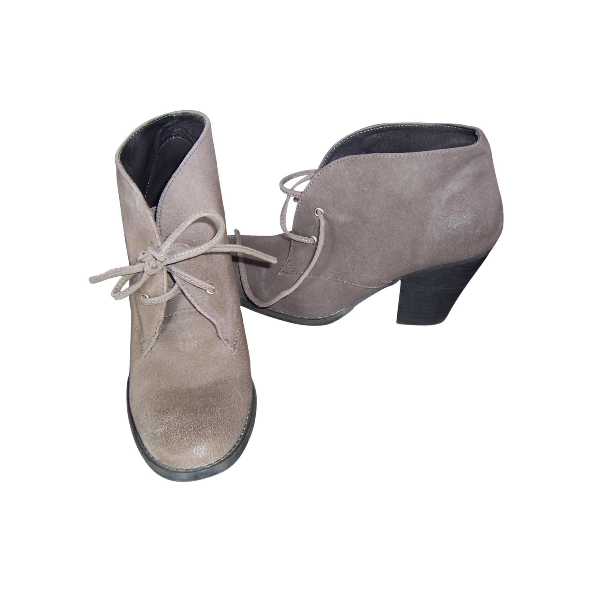 Bottines & low boots à talons ONE STEP Beige, camel
