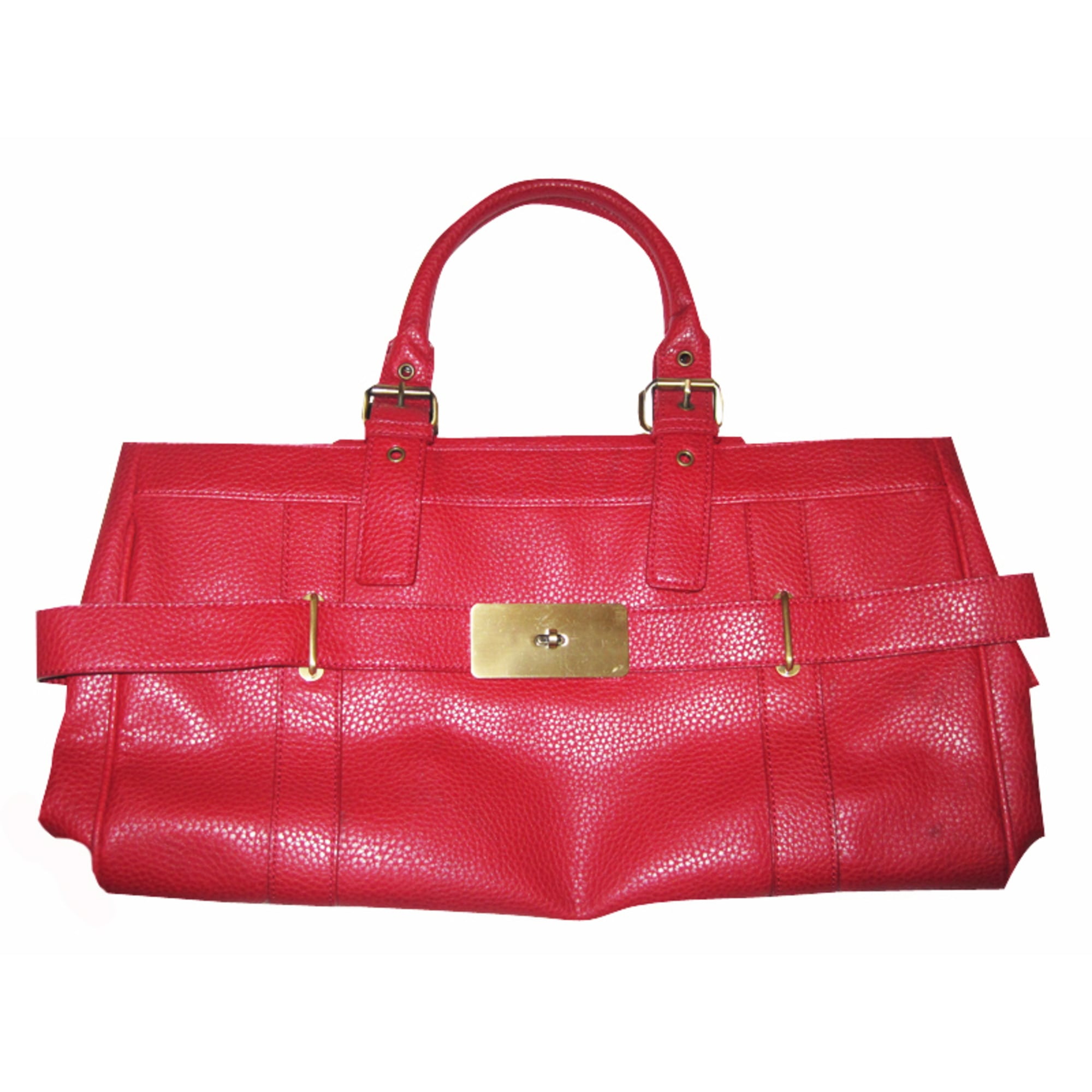 sac main en cuir zara rouge vendu par cat 326679 304299. Black Bedroom Furniture Sets. Home Design Ideas