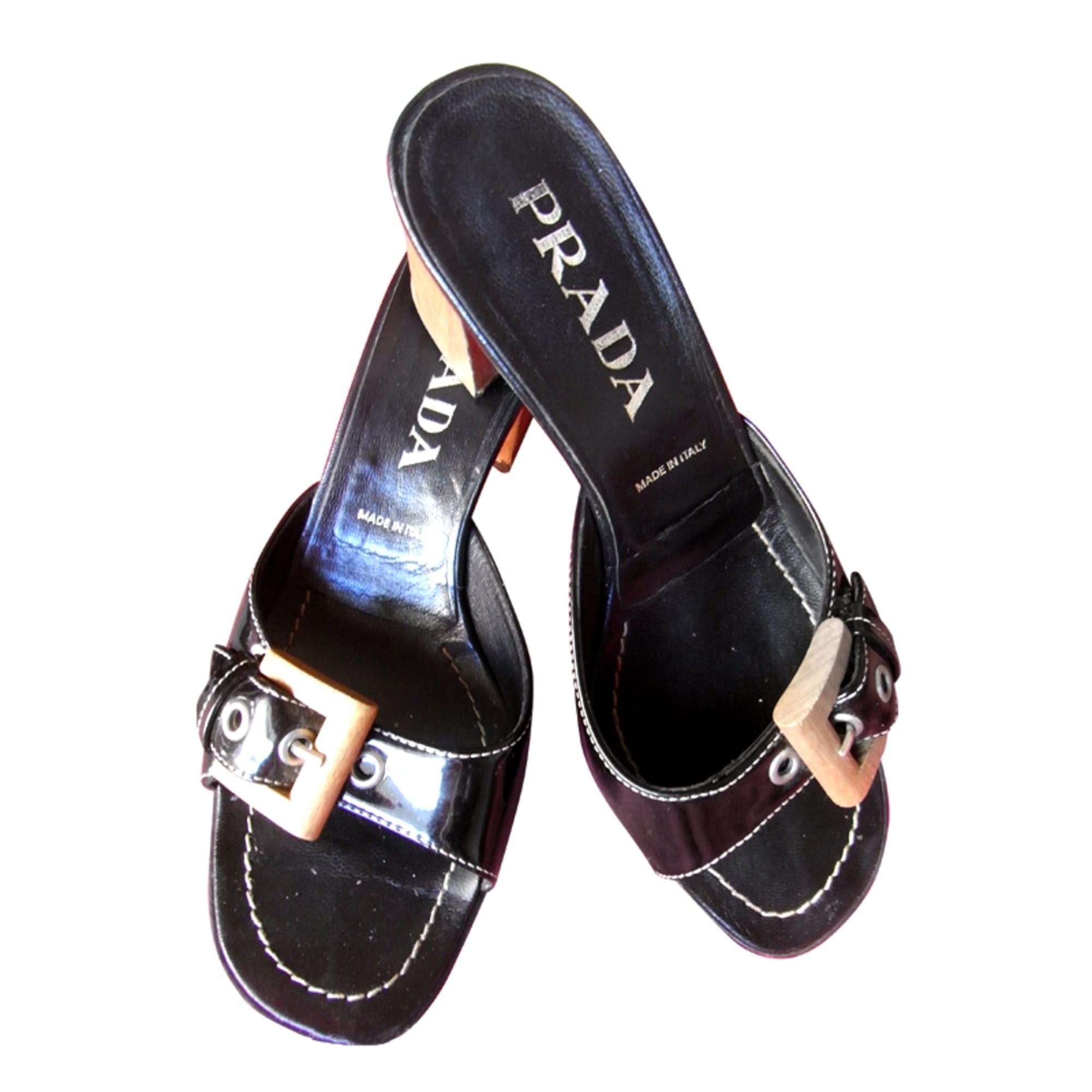 Sandales à talons PRADA Noir