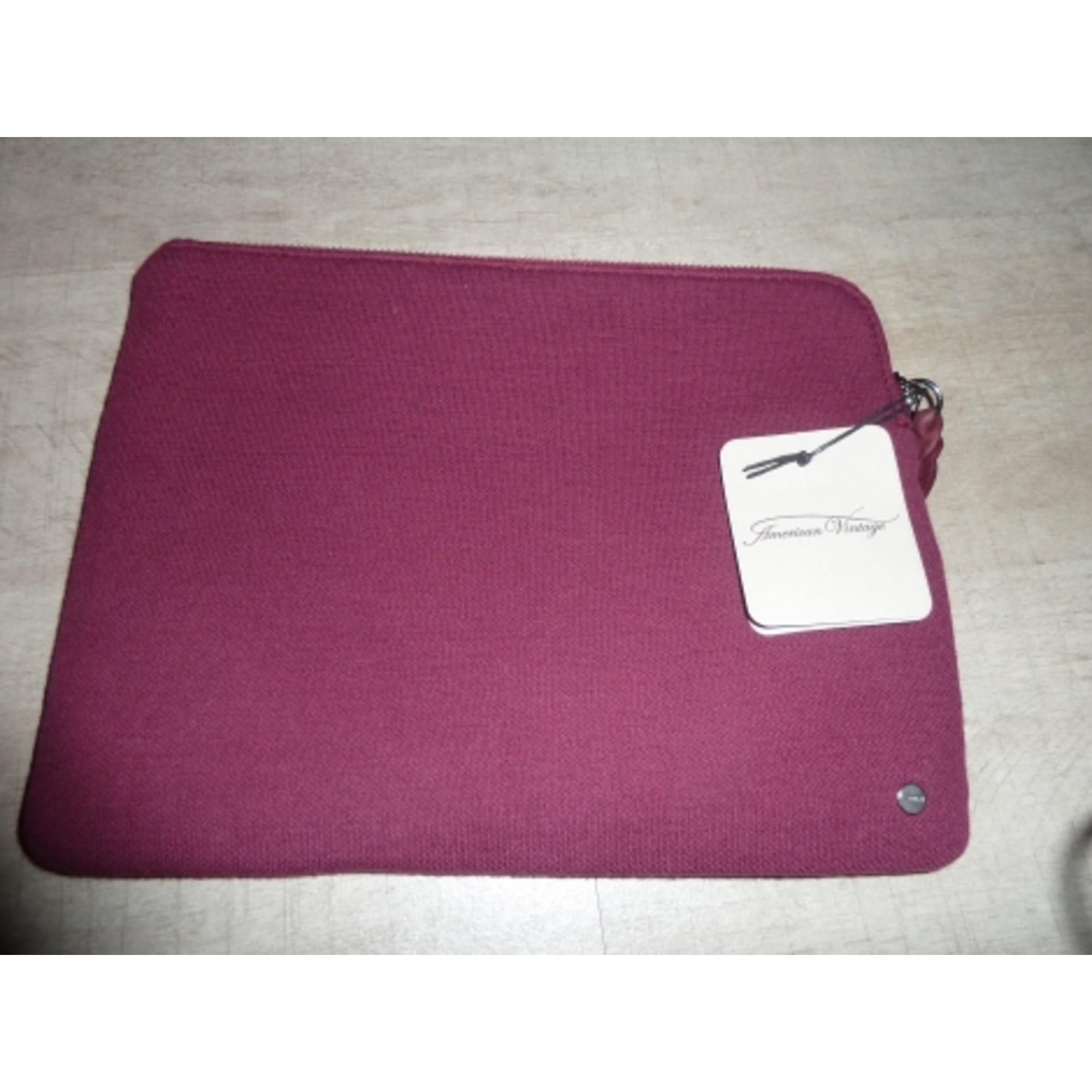 Pochette AMERICAN VINTAGE coton rouge