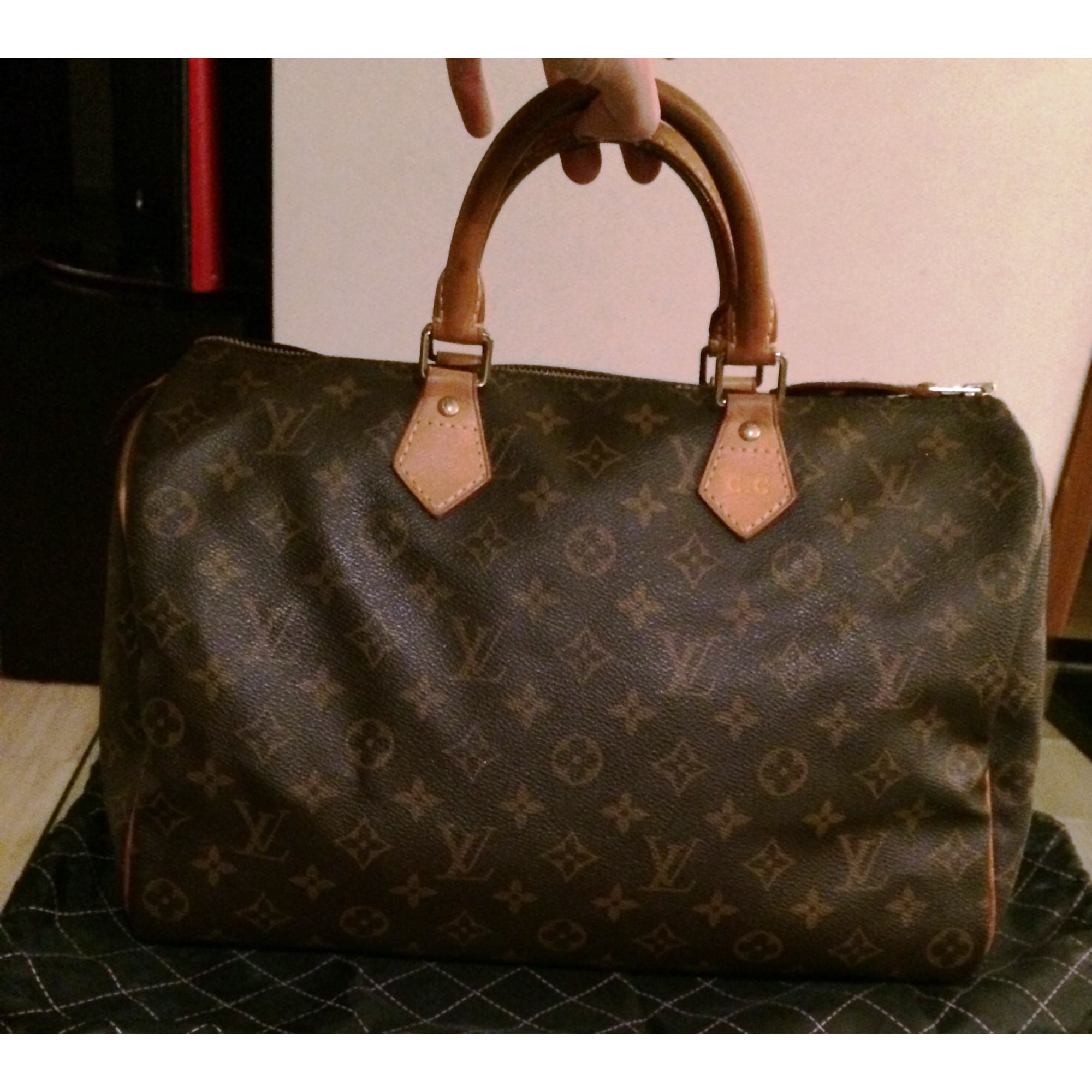 03bb4d94a5 Borsetta in pelle LOUIS VUITTON Speedy 35 Monogram louis vuitton Marron  beige