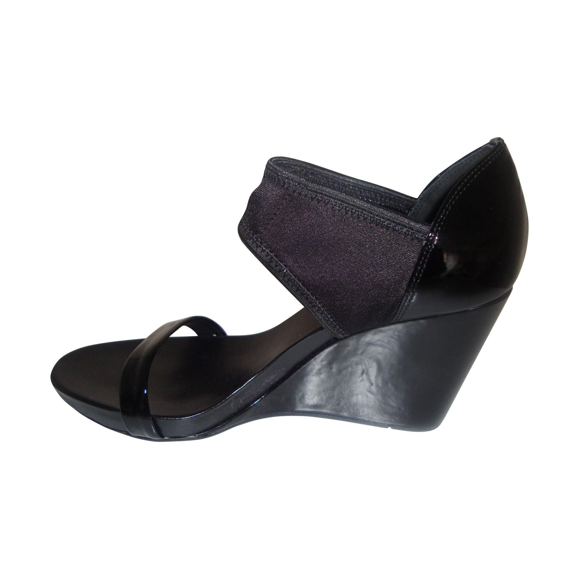 3061105 noir Sandales CALVIN compensées KLEIN 37 Aj54L3Rq