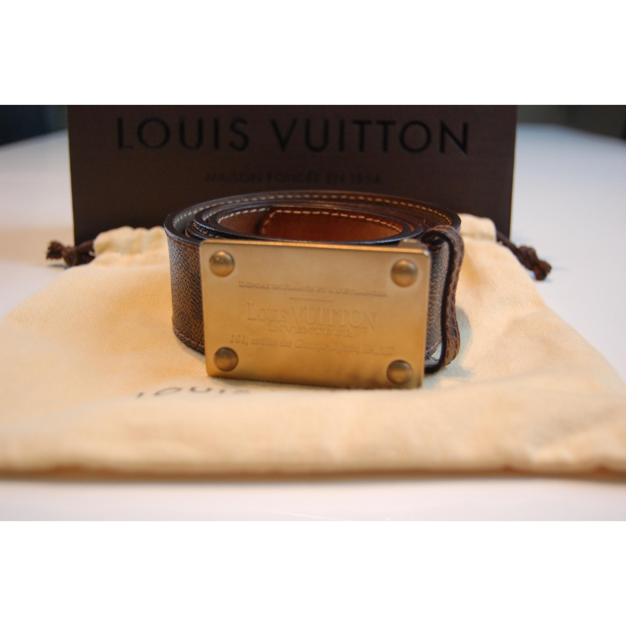 Ceinture LOUIS VUITTON 110 damier brun vendu par Dany87 - 3083271 fcd43dd09d8