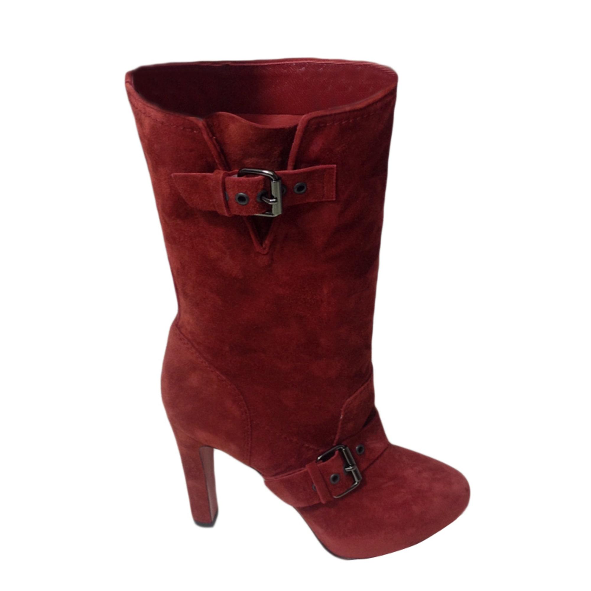 bottes louboutin rouge