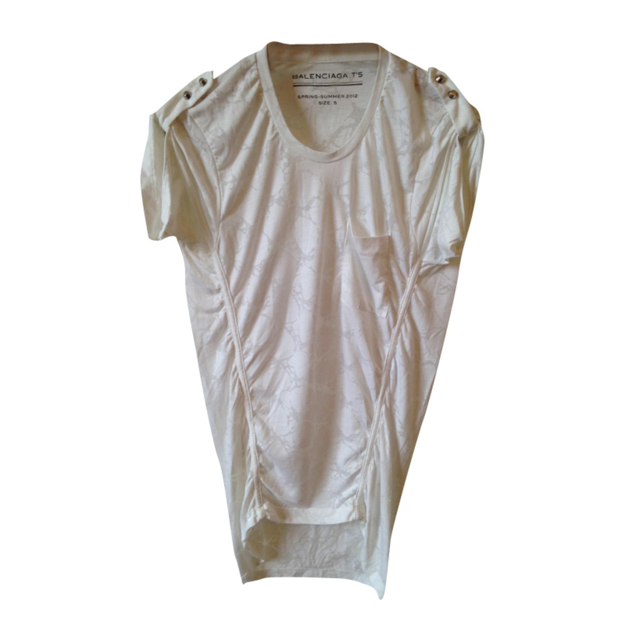 Tops, T-Shirt BALENCIAGA Weiß, elfenbeinfarben