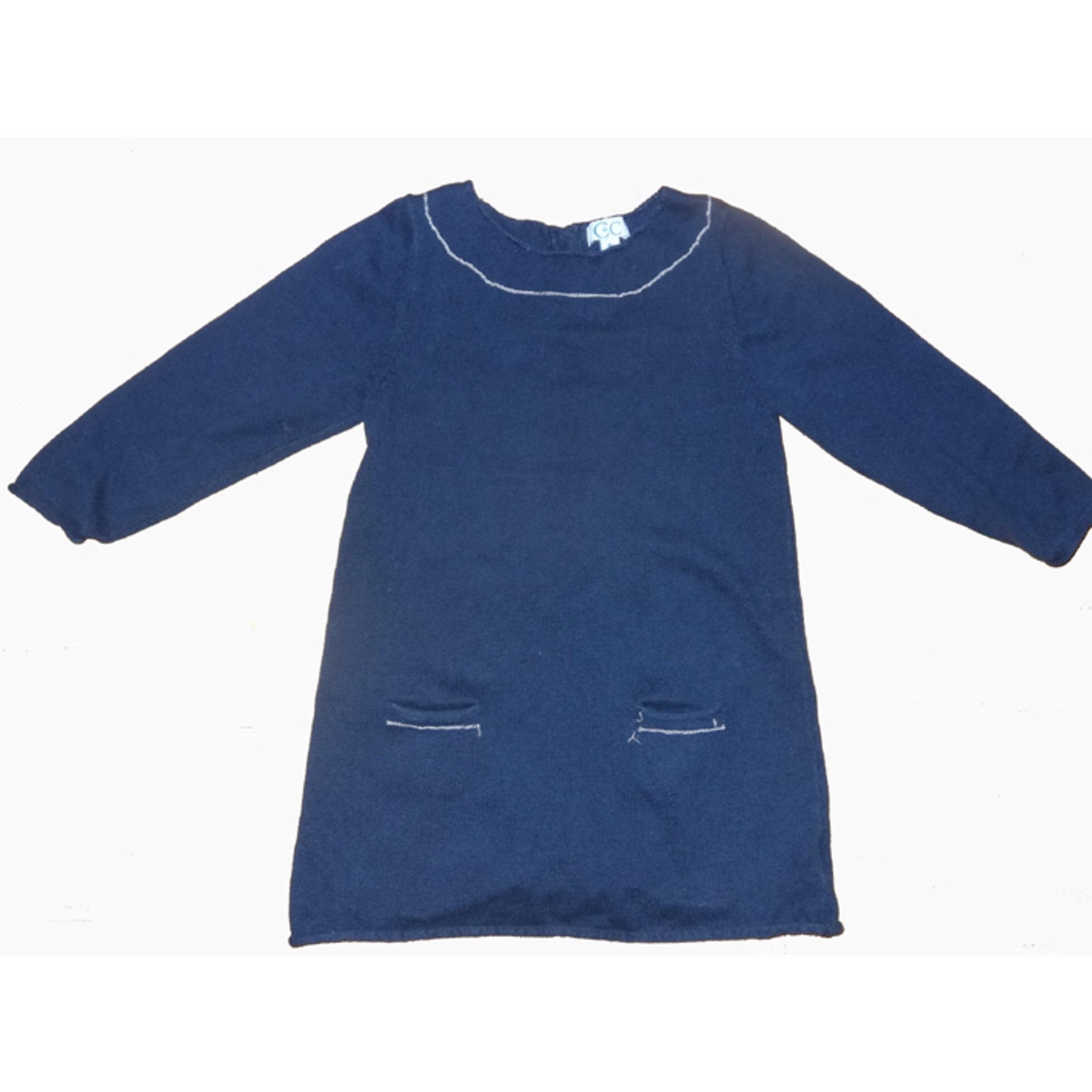Robe C DE C BY CORDELIA DE CASTELLANE coton bleu 5-6 ans