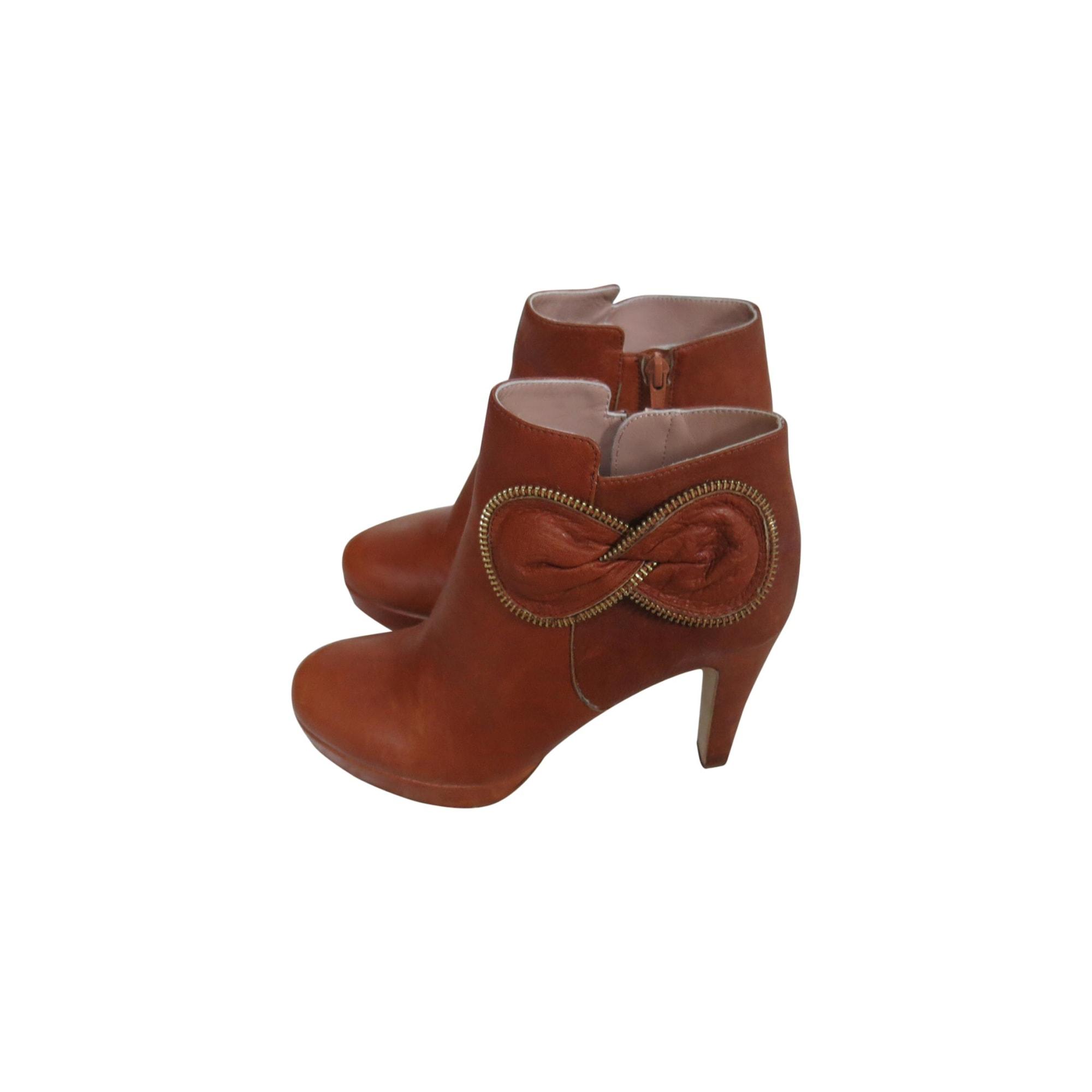 By Par amp  Vendu Talons See Beige À Bottines 38 Boots Chloe Low PdnqY b0a8e276d99