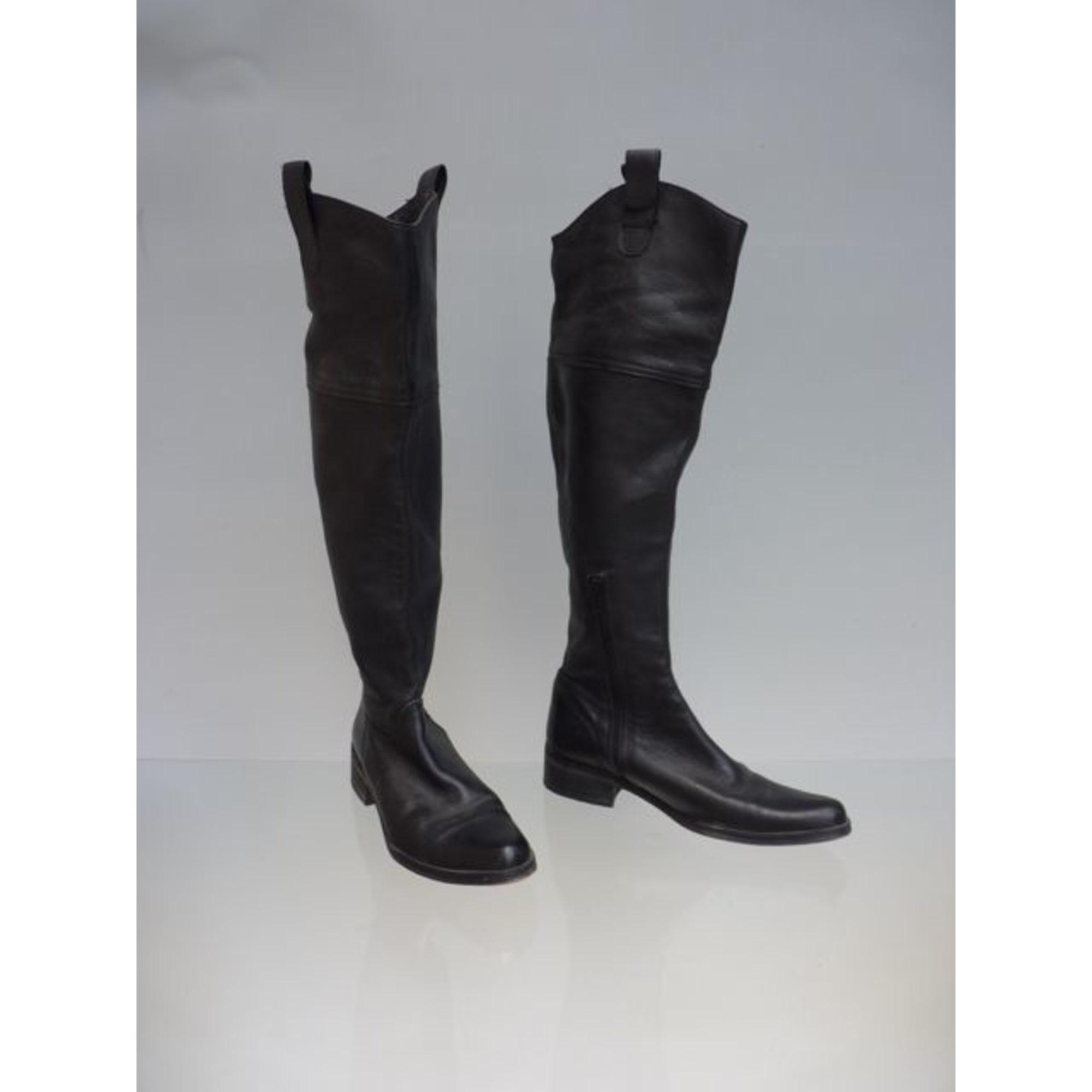 Bottes cuissards ZAPA cuir noir 37 FyIjz6c