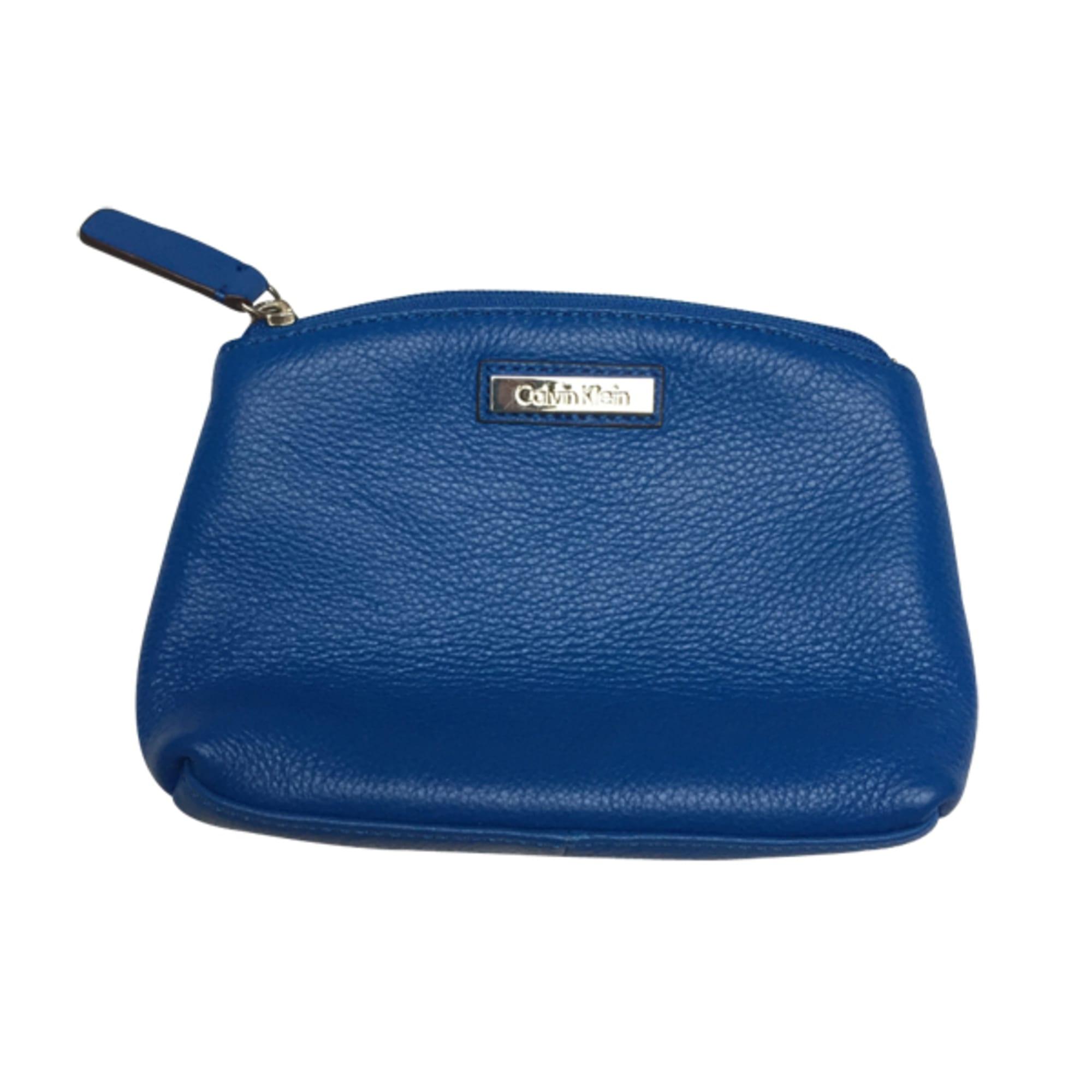Calvin Sac Pochette De Cuir En Bleu Par Klein Dépôt Bilan Vendu 6OPq6rat